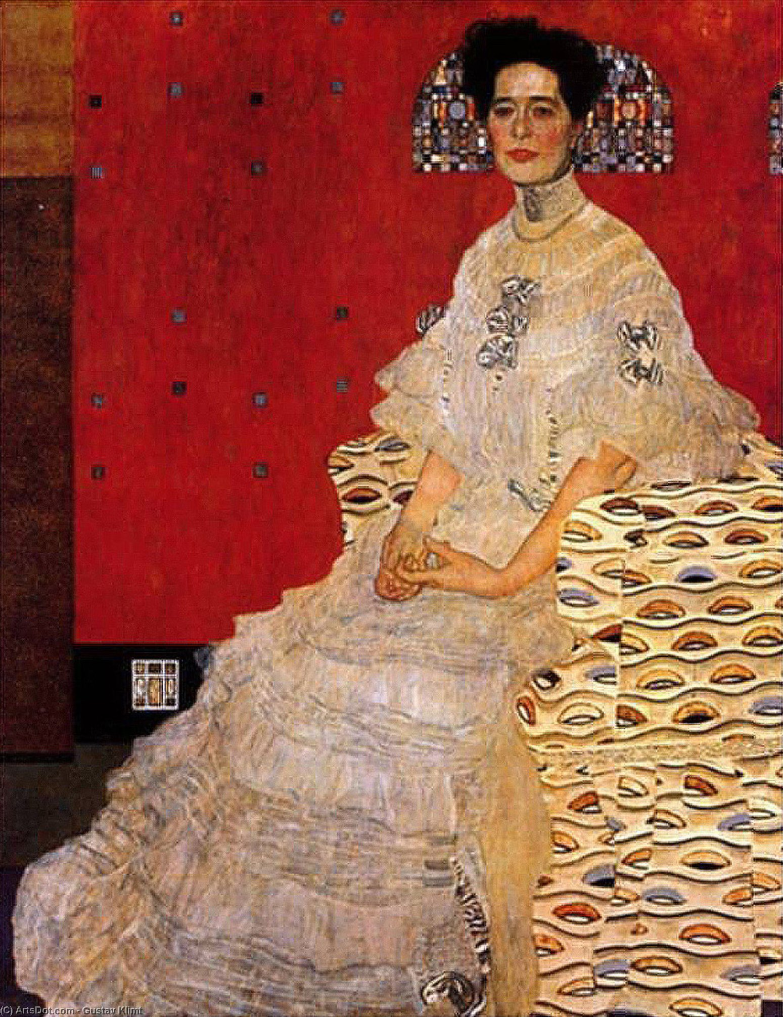 Wikioo.org - The Encyclopedia of Fine Arts - Painting, Artwork by Gustav Klimt - Bildnis Fritza Riedler, 1906 - Österreichische Galerie, Vienna