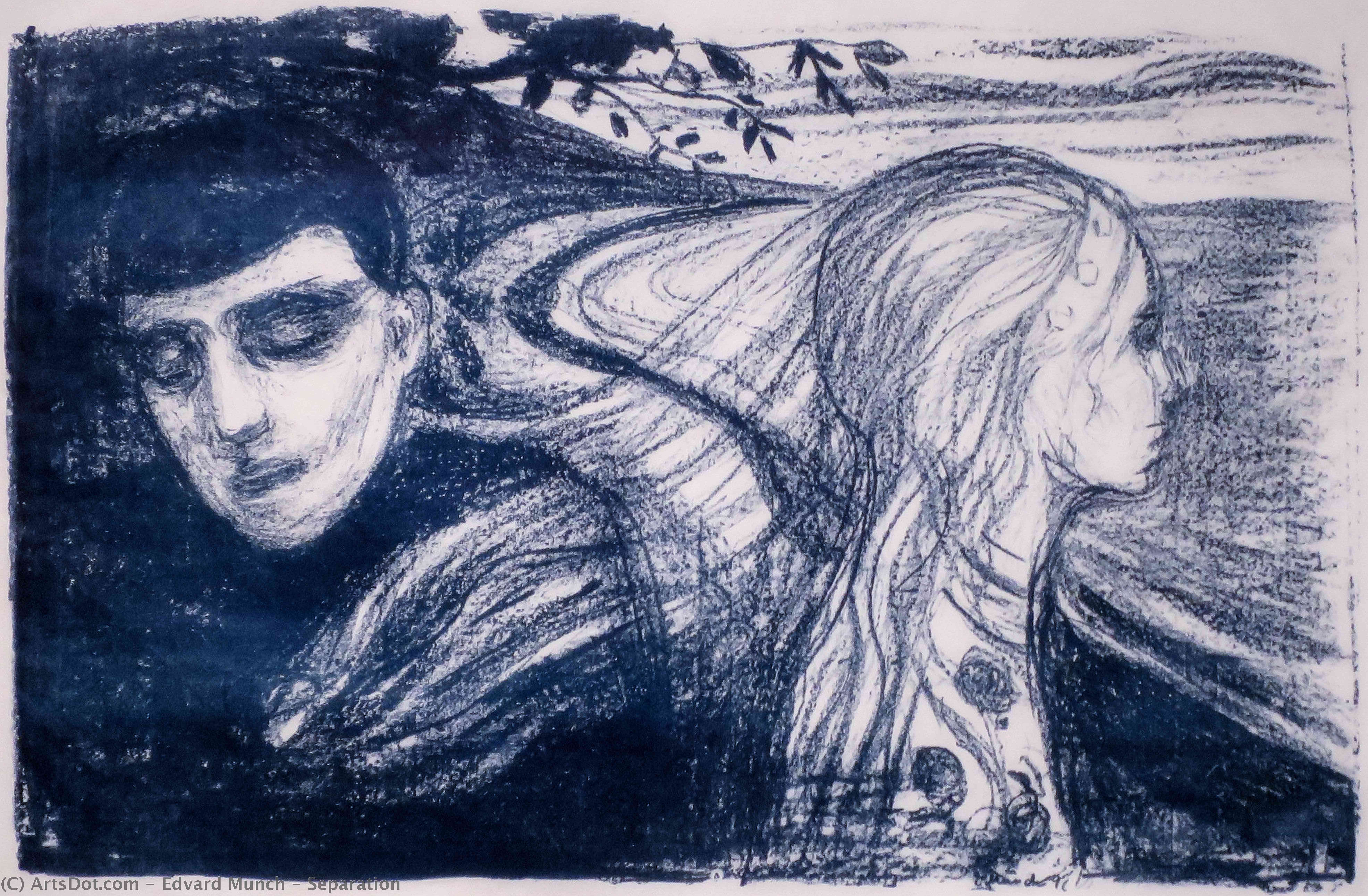 Wikioo.org - The Encyclopedia of Fine Arts - Painting, Artwork by Edvard Munch - Separation