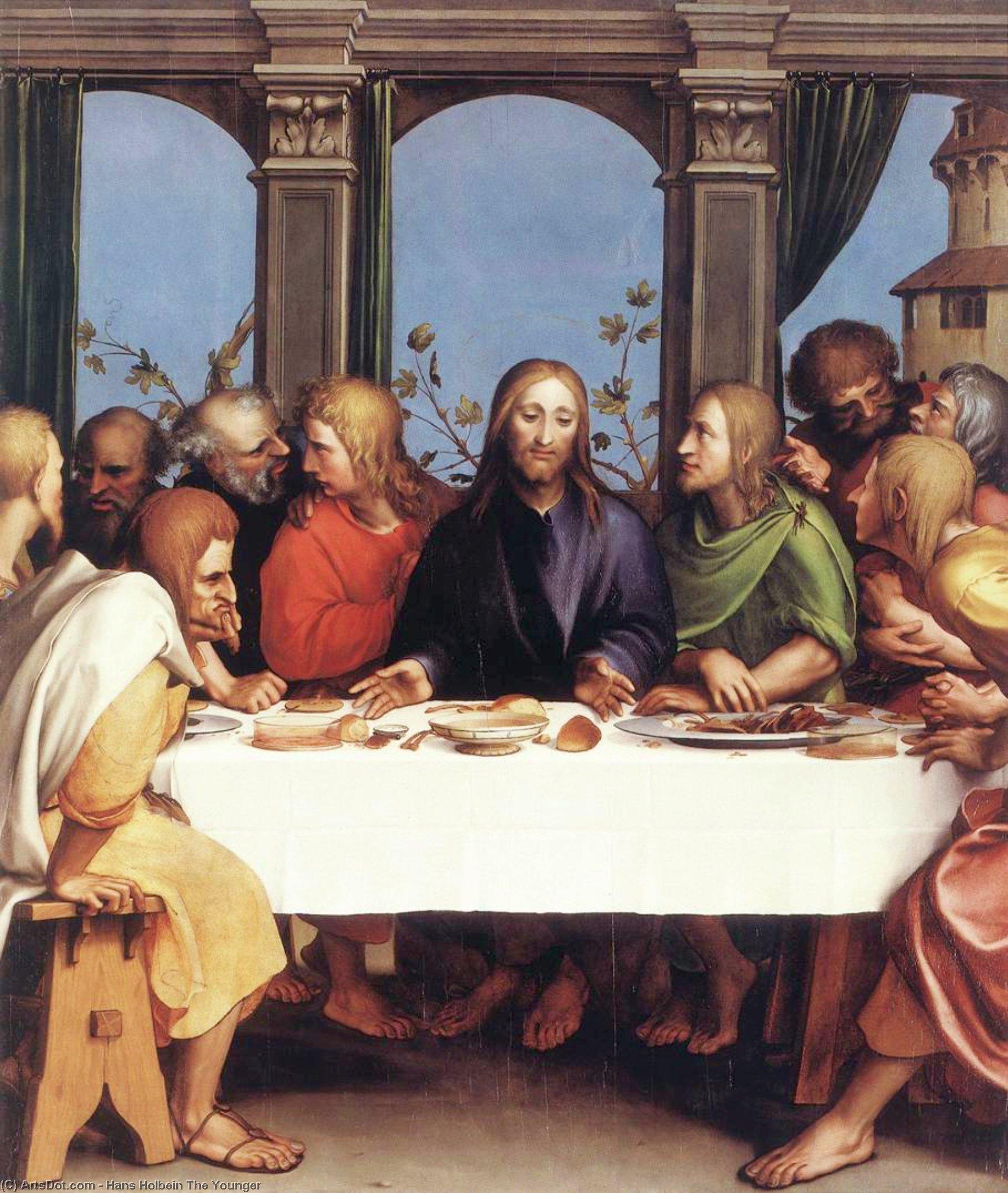 WikiOO.org - Enciclopedia of Fine Arts - Pictura, lucrări de artă Hans Holbein The Younger - The Last Supper