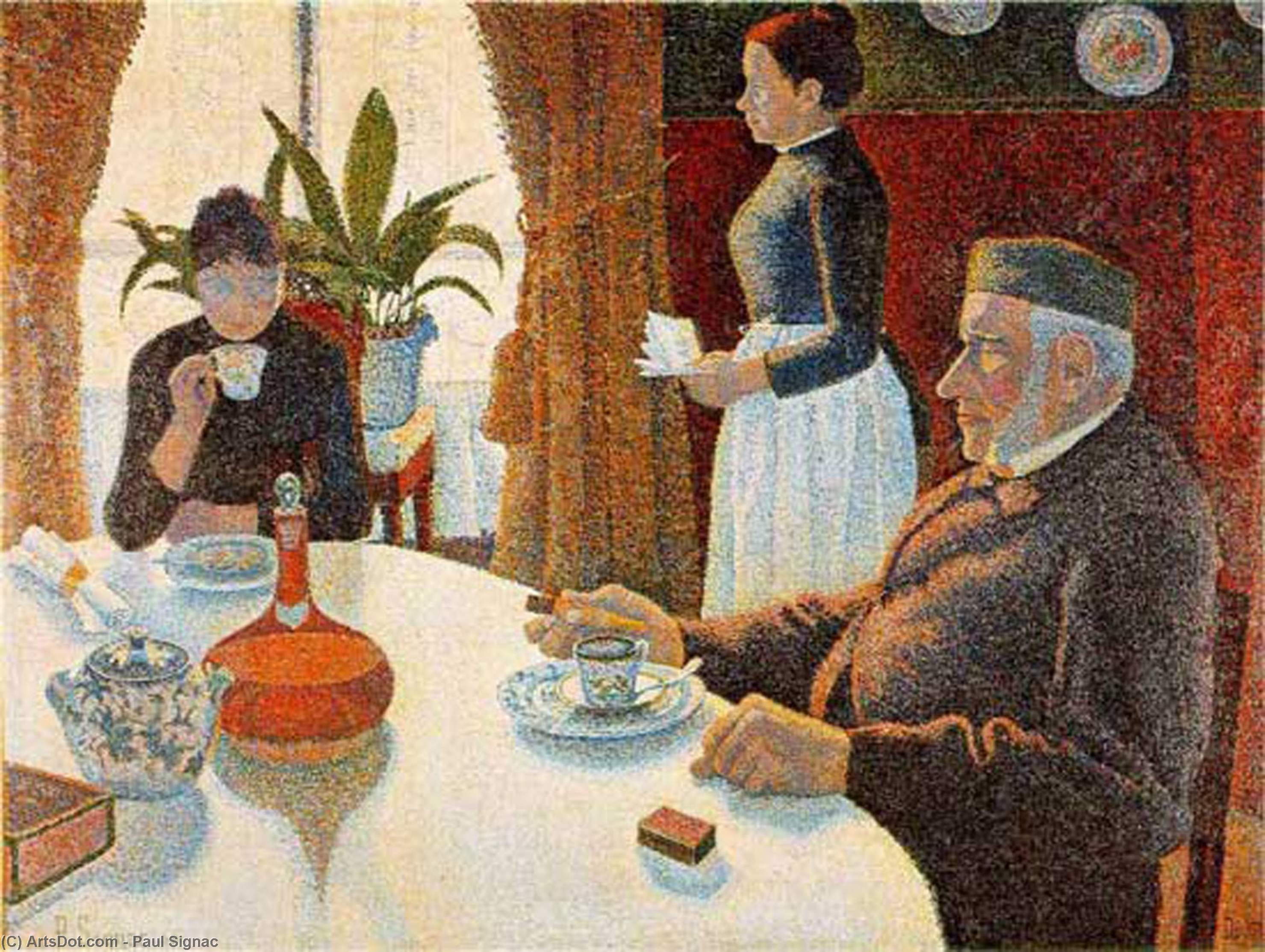 Breakfast (The Dining Room) - Paul Signac