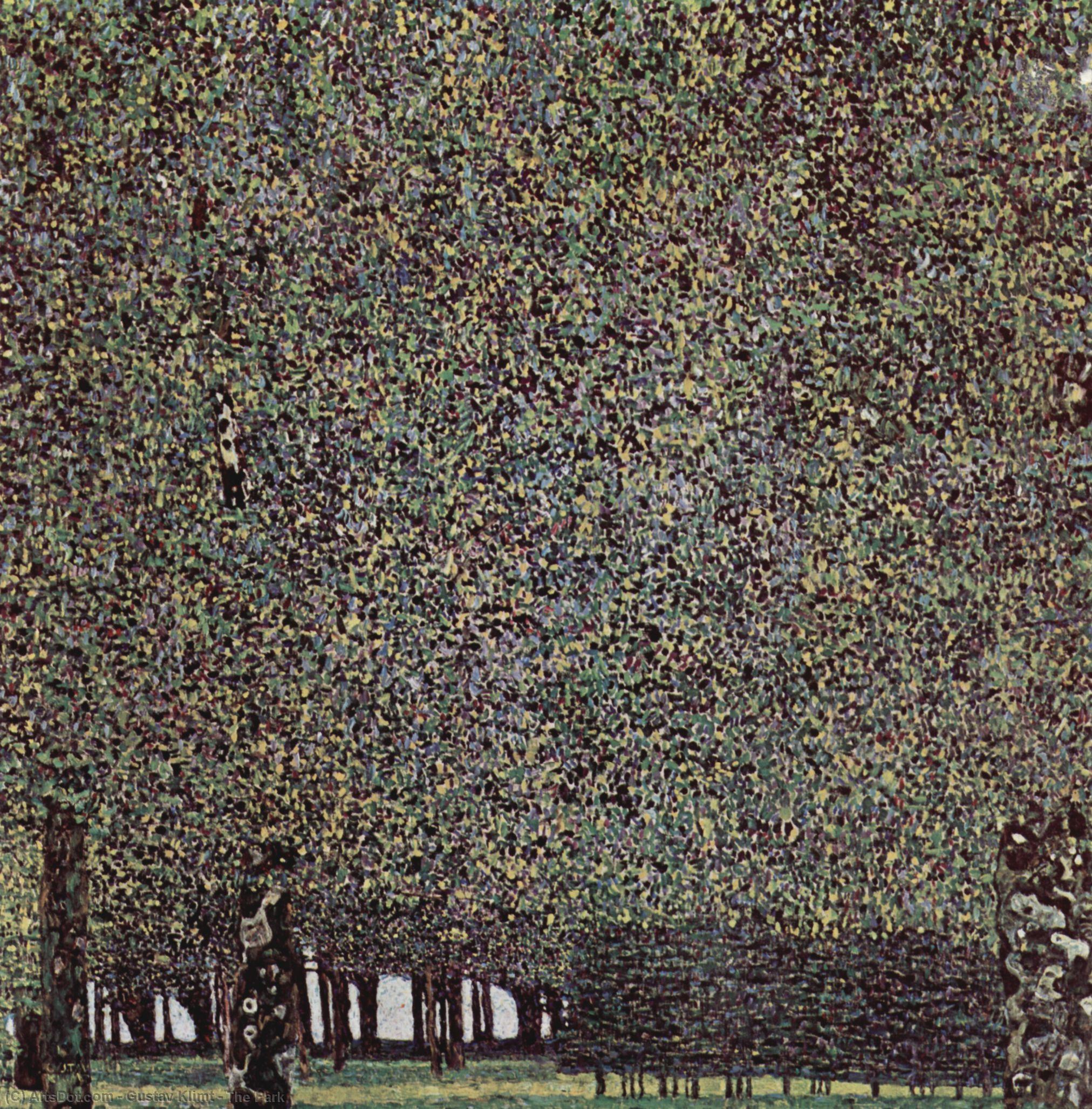 WikiOO.org - Enciclopédia das Belas Artes - Pintura, Arte por Gustav Klimt - The Park