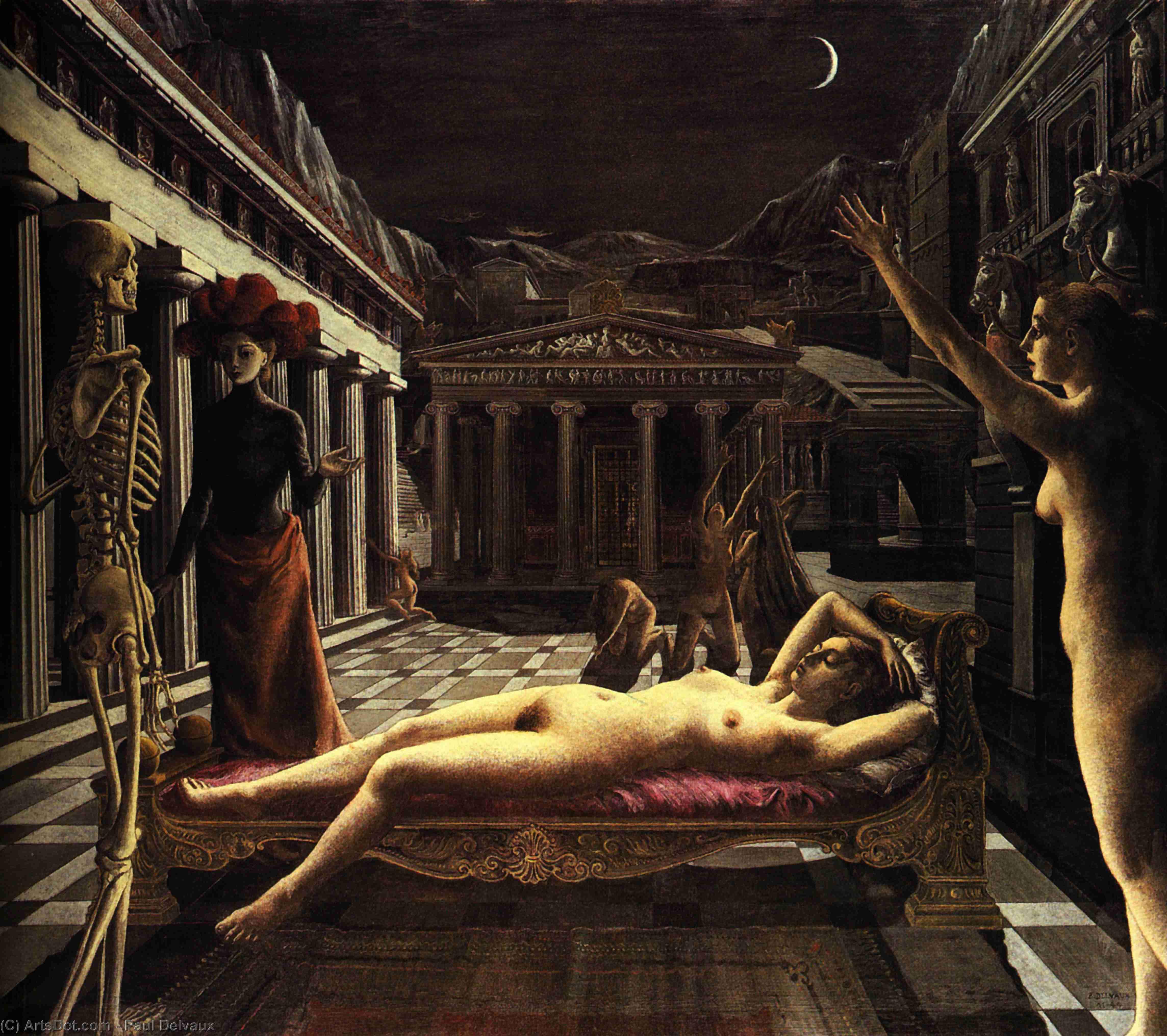The Sleeping Venus - Paul Delvaux