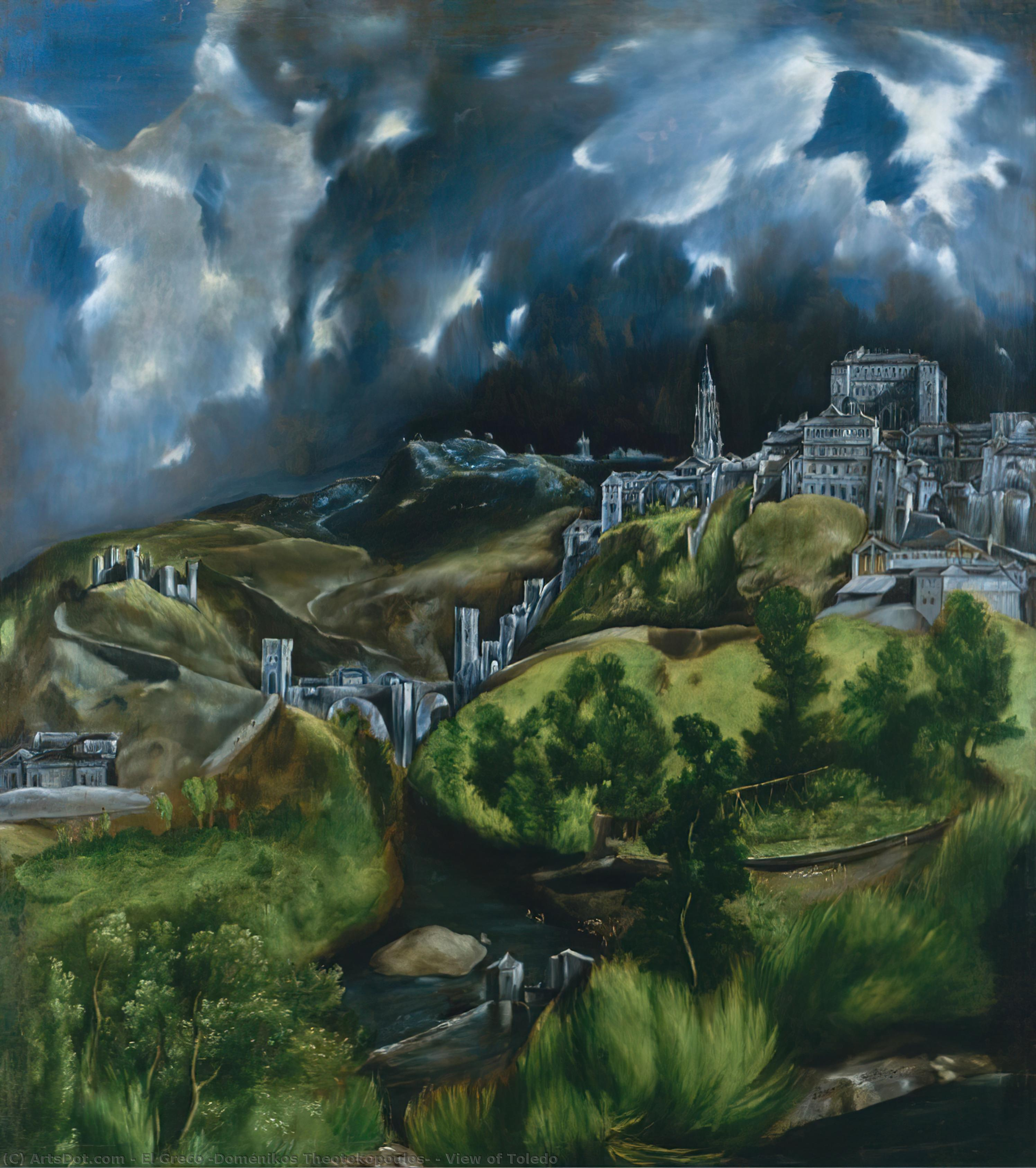 Wikioo.org - The Encyclopedia of Fine Arts - Painting, Artwork by El Greco (Doménikos Theotokopoulos) - View of Toledo