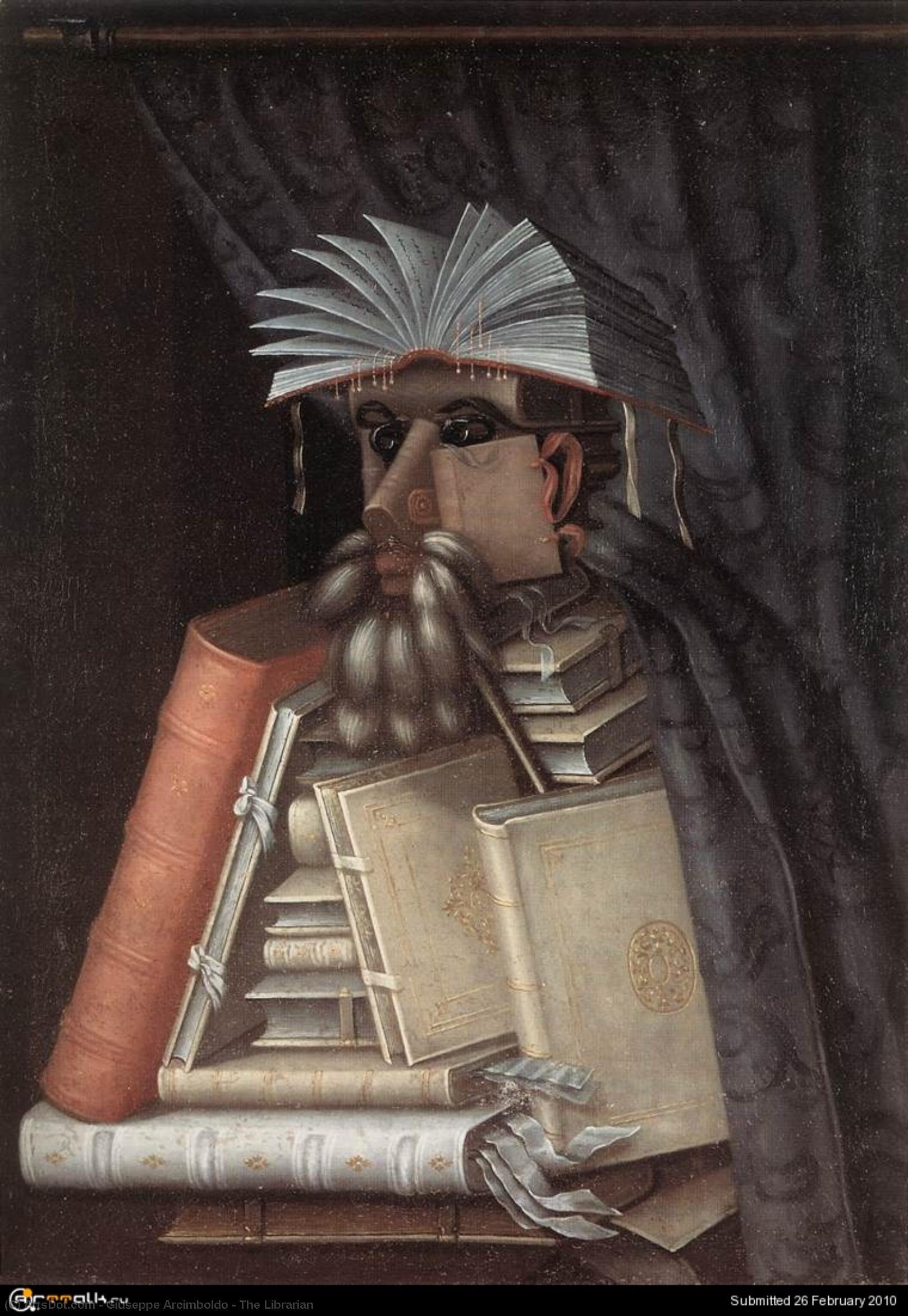 WikiOO.org - Encyclopedia of Fine Arts - Malba, Artwork Giuseppe Arcimboldo - The Librarian