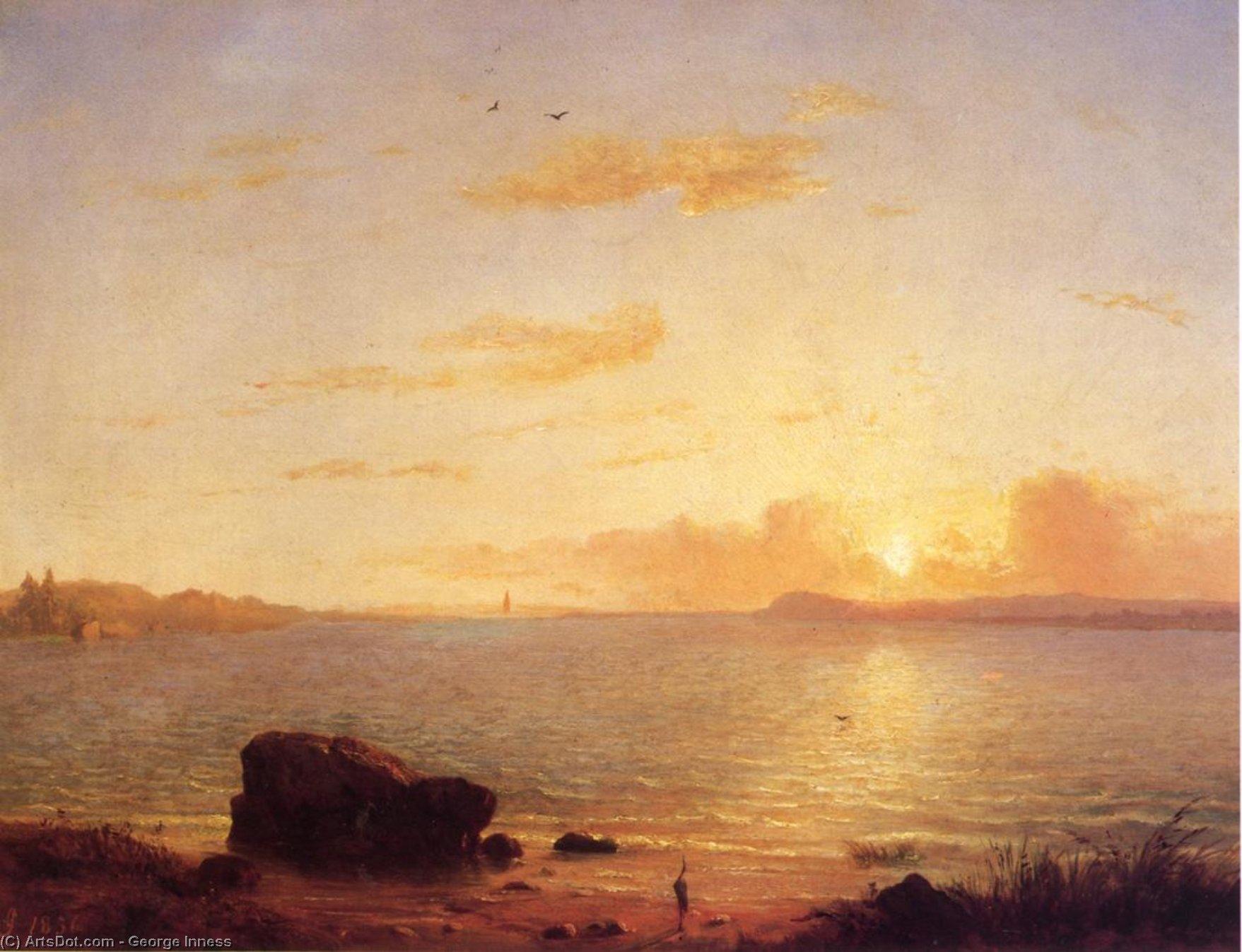 Wikioo.org - The Encyclopedia of Fine Arts - Painting, Artwork by George Inness - Phantom Sea
