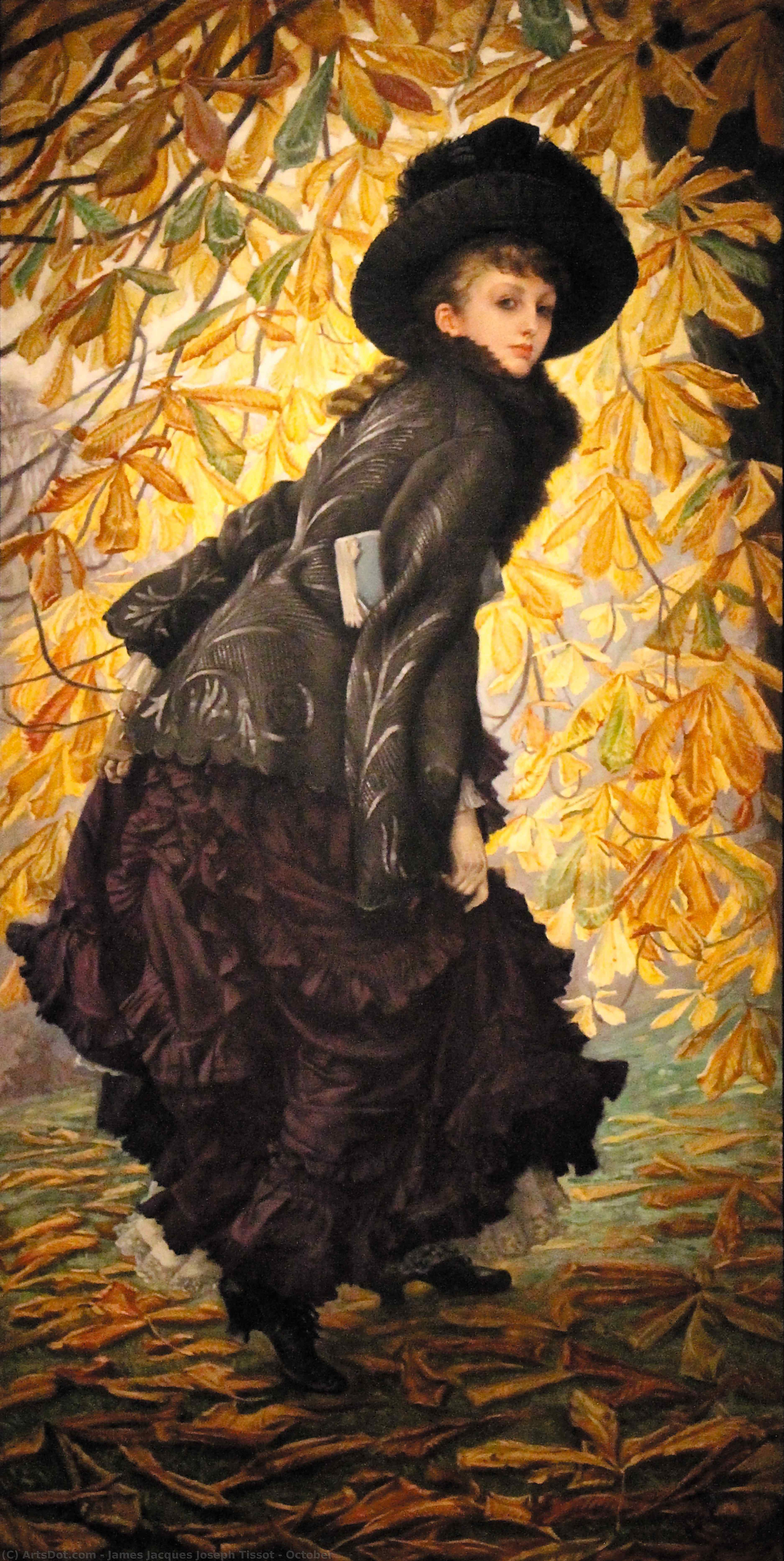 Wikioo.org - The Encyclopedia of Fine Arts - Painting, Artwork by James Jacques Joseph Tissot - October