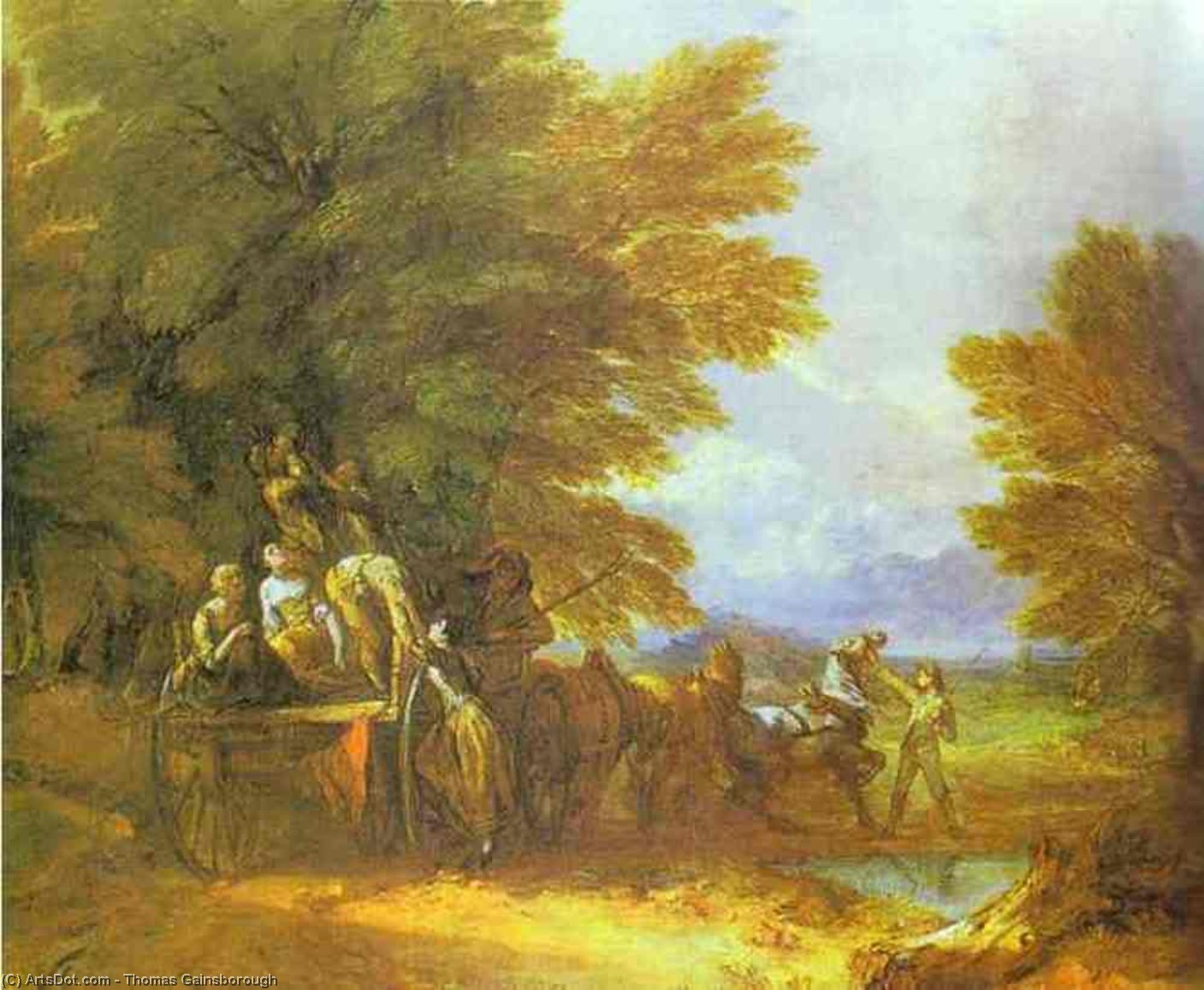 Wikioo.org - The Encyclopedia of Fine Arts - Painting, Artwork by Thomas Gainsborough - The Harvest Wagon