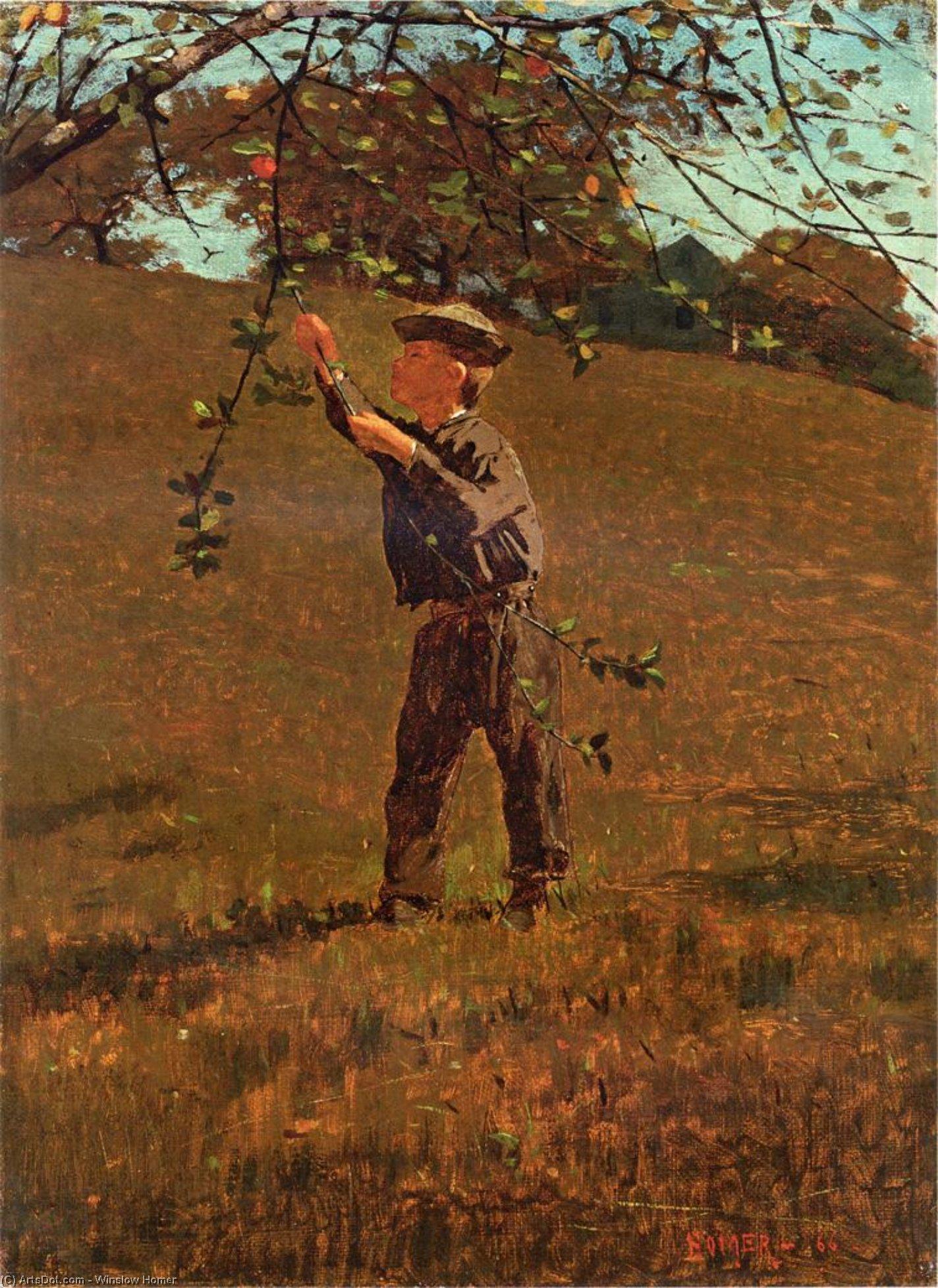 Wikioo.org – La Enciclopedia de las Bellas Artes - Pintura, Obras de arte de Winslow Homer - manzanas verdes