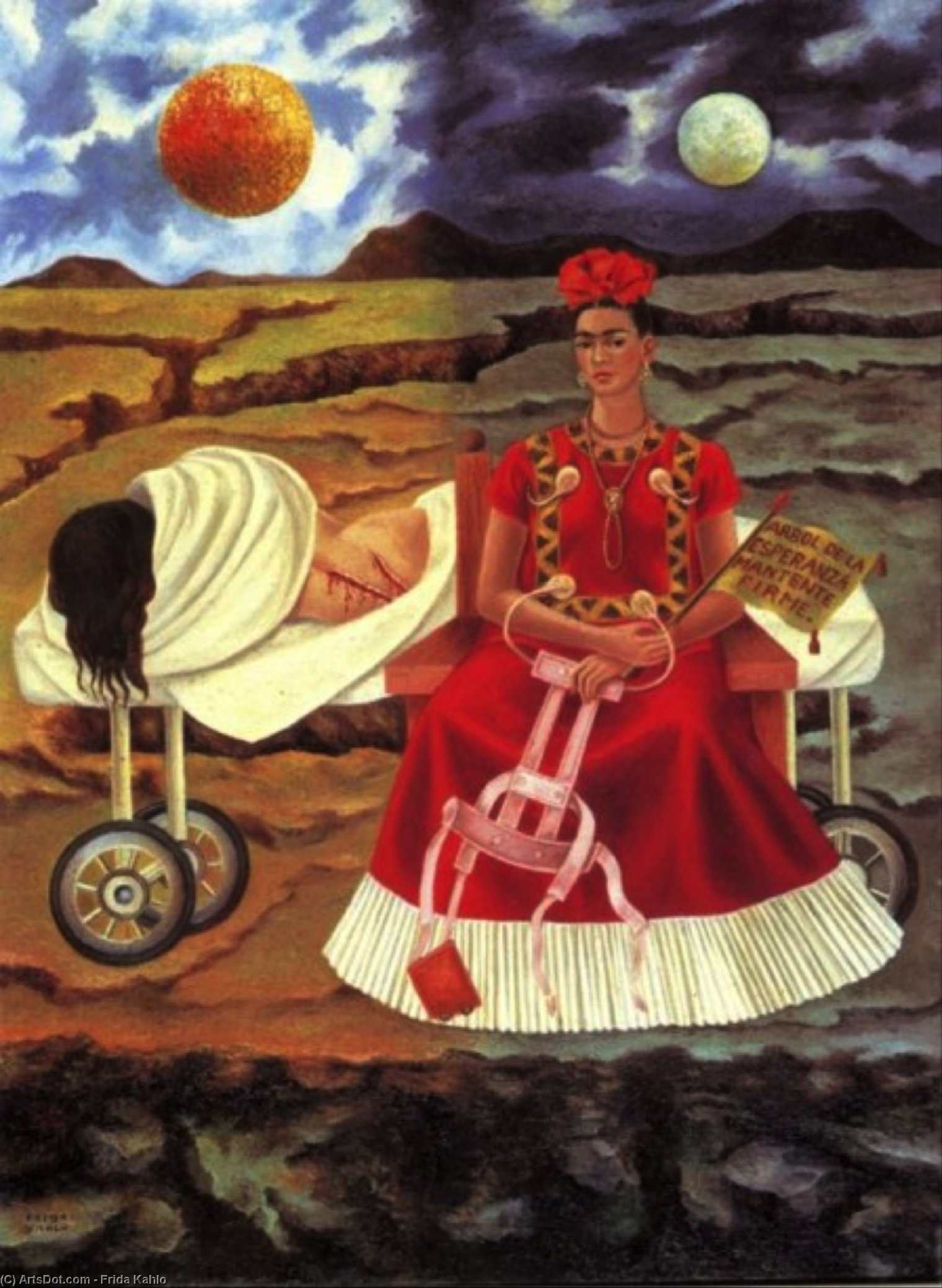 Wikioo.org - The Encyclopedia of Fine Arts - Painting, Artwork by Frida Kahlo - Tree of Hope