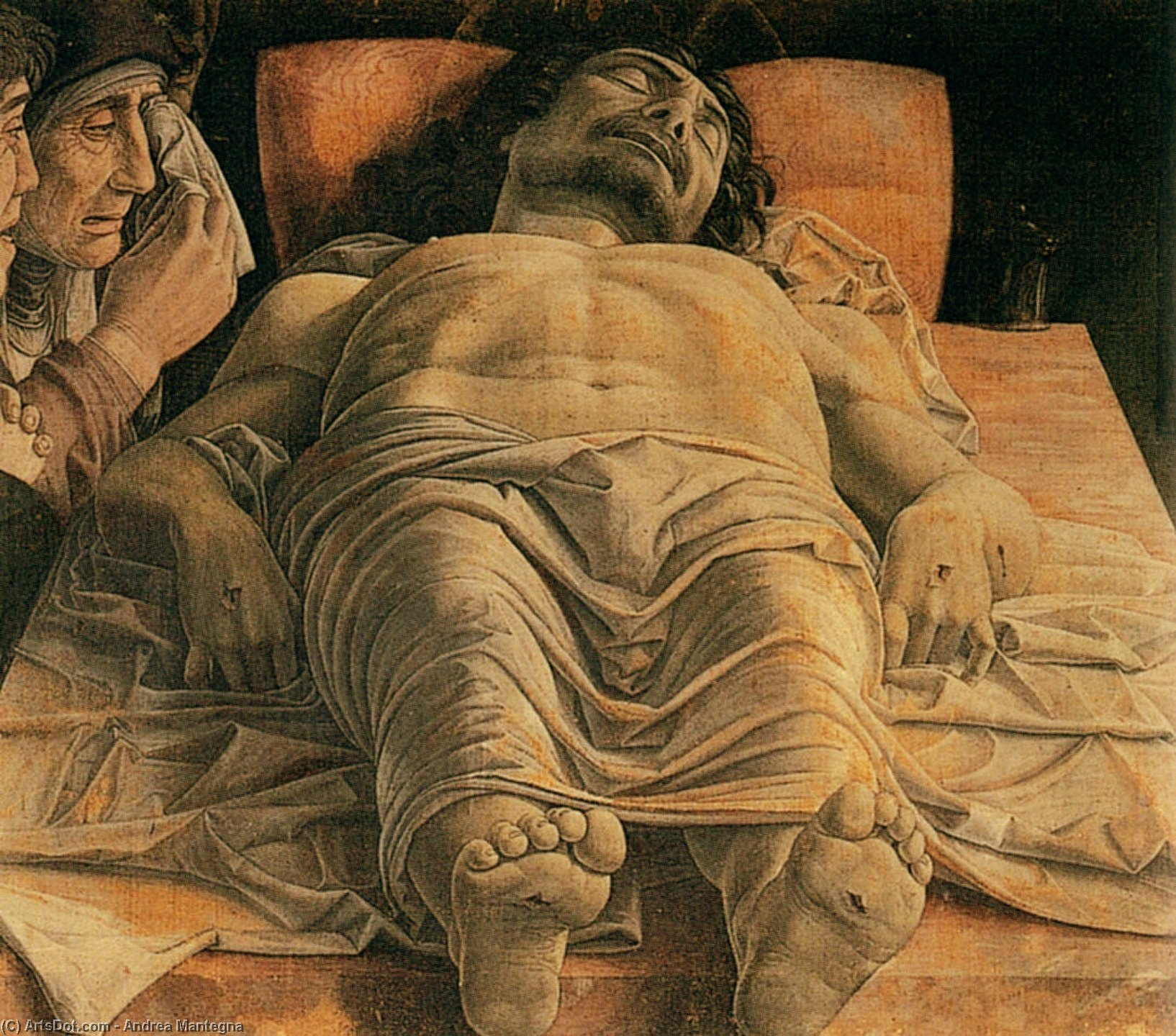 Wikioo.org - The Encyclopedia of Fine Arts - Painting, Artwork by Andrea Mantegna - The Lamentation over the Dead Christ