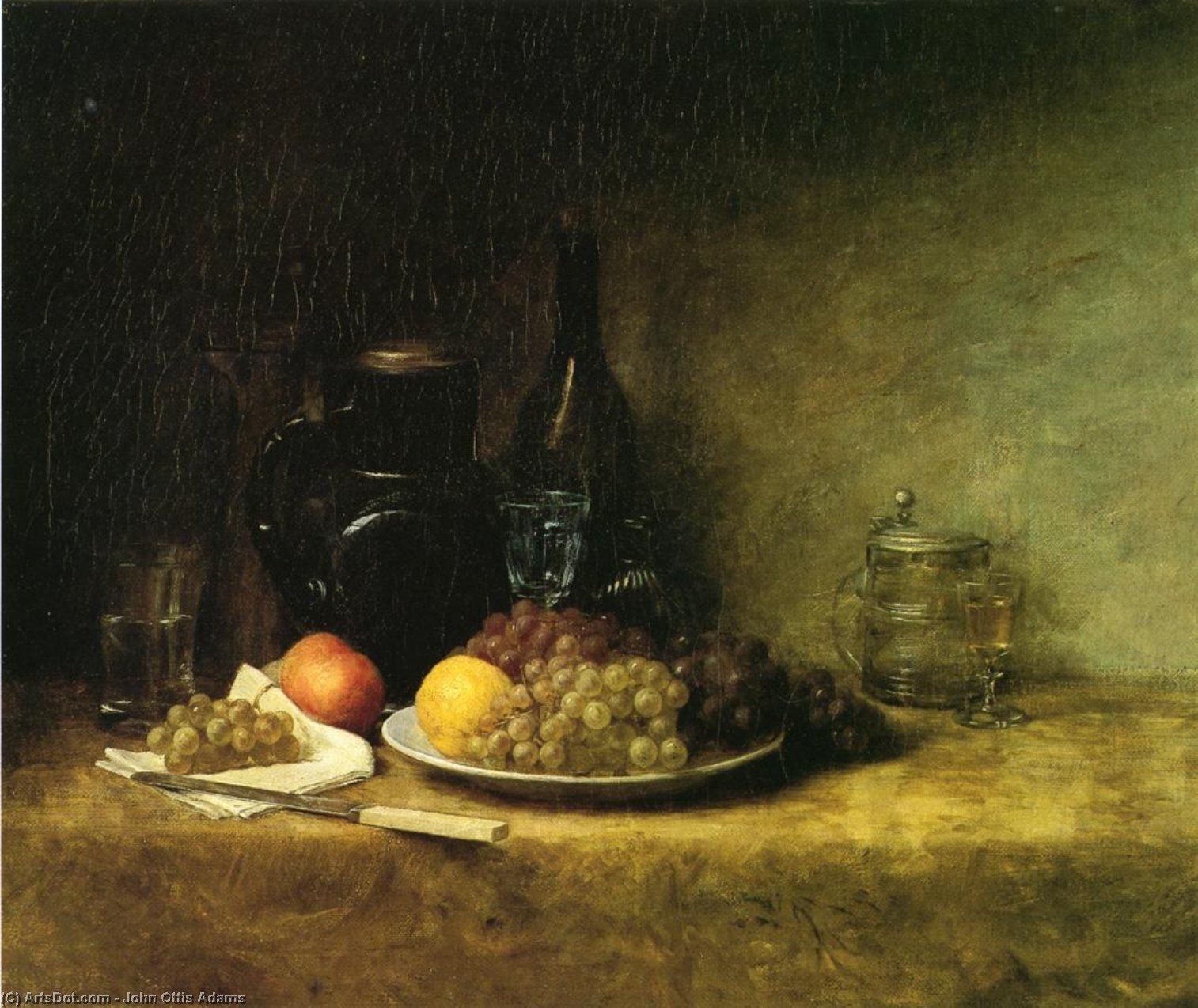 Wikioo.org - The Encyclopedia of Fine Arts - Painting, Artwork by John Ottis Adams - Still Life