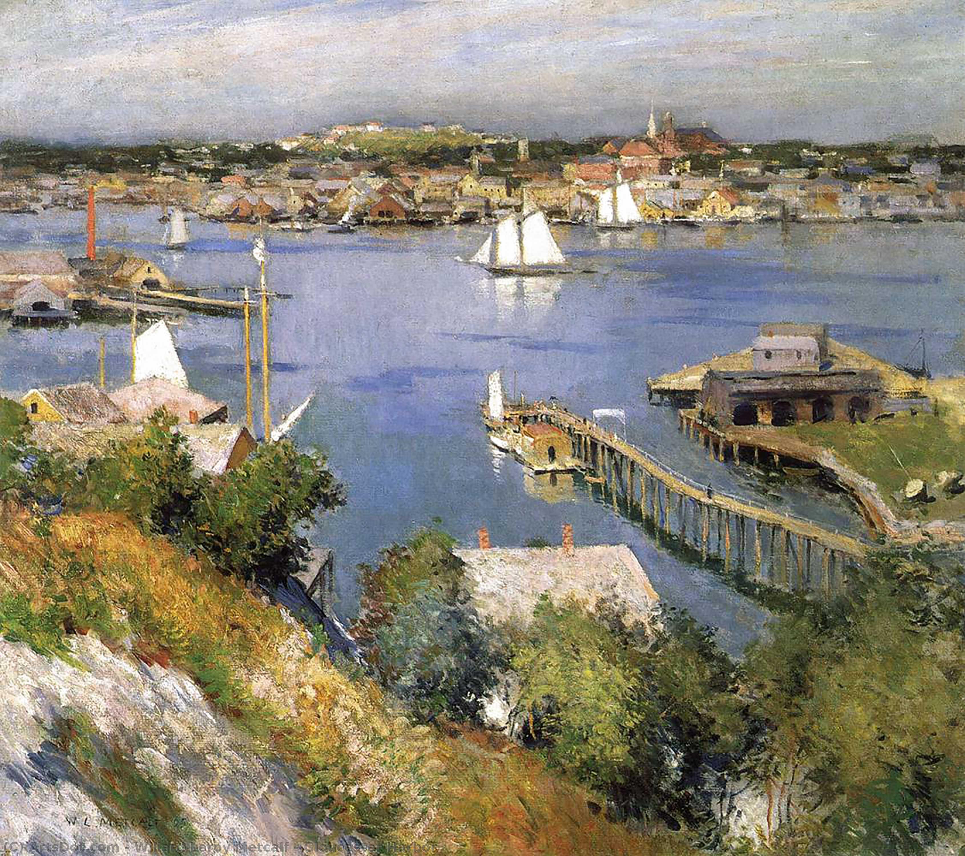 Gloucester Harbor - Willard Leroy Metcalf