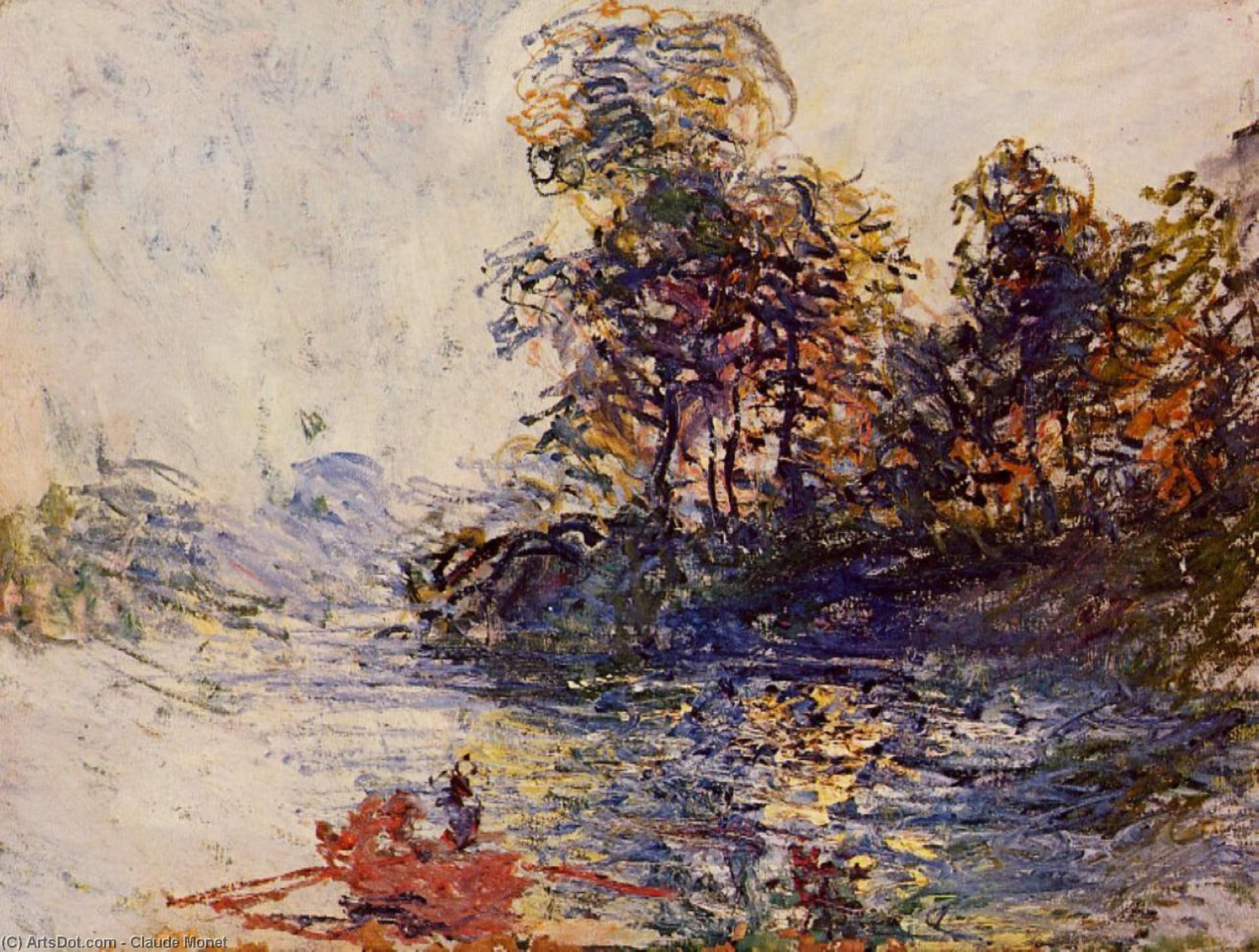 Wikioo.org - The Encyclopedia of Fine Arts - Painting, Artwork by Claude Monet - The River