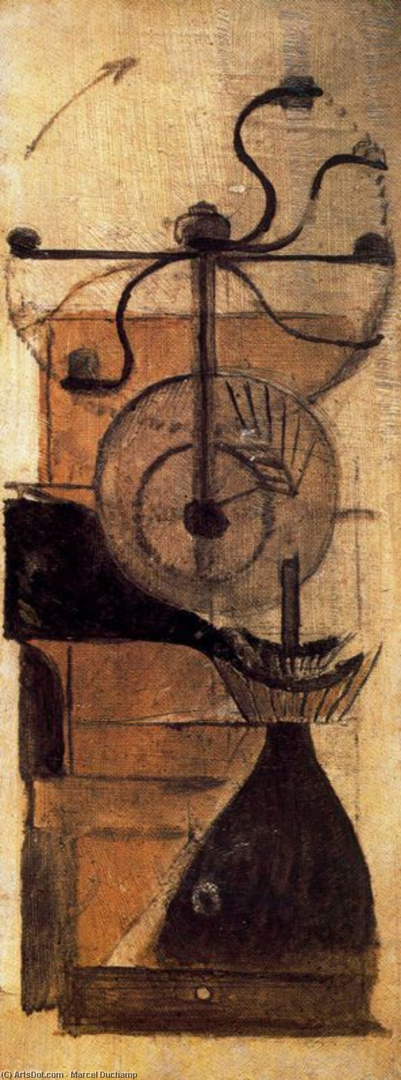 Wikioo.org - The Encyclopedia of Fine Arts - Painting, Artwork by Marcel Duchamp - Coffee mill