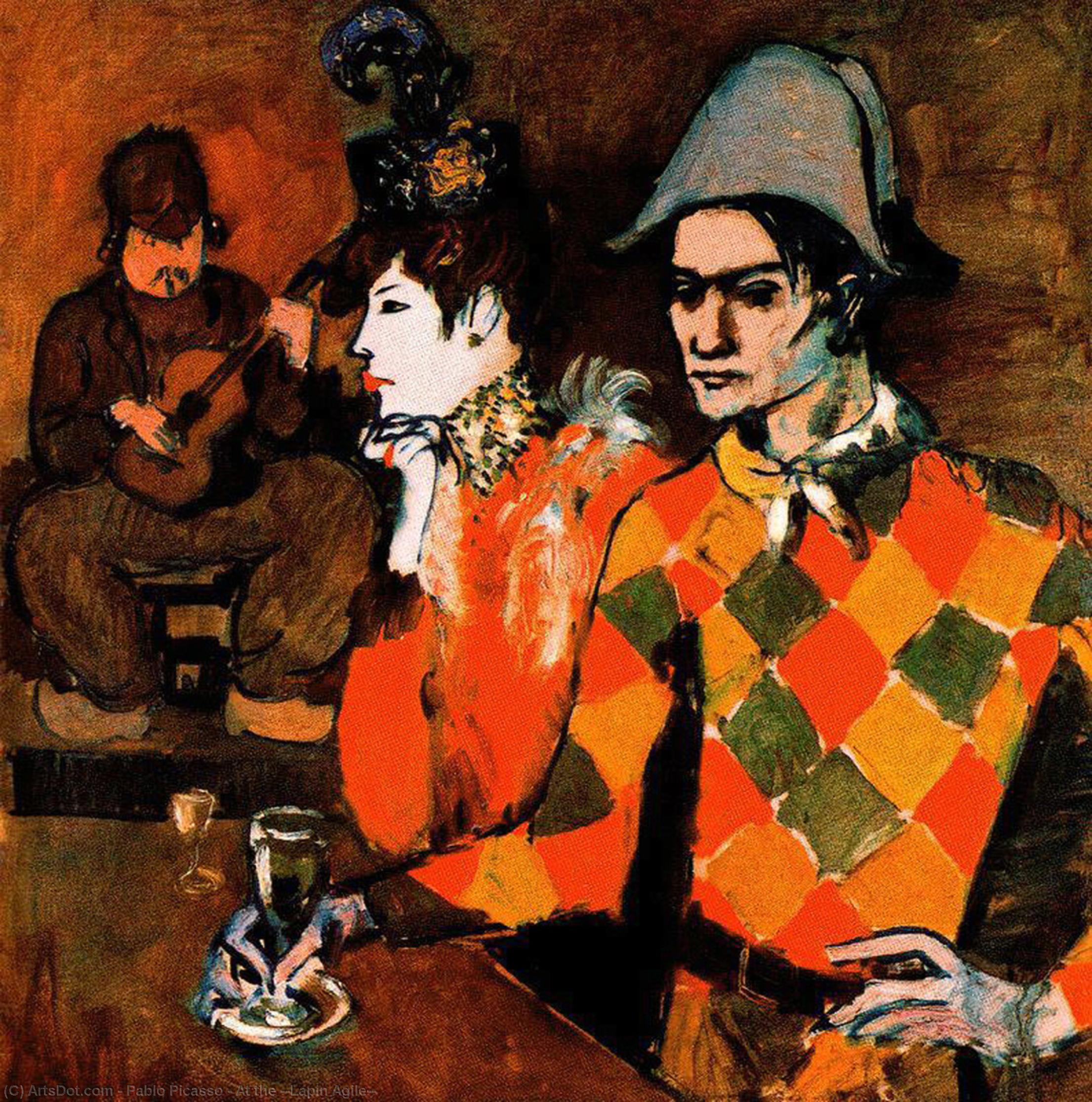 Wikioo.org - The Encyclopedia of Fine Arts - Painting, Artwork by Pablo Picasso - At the ''Lapin Agile''
