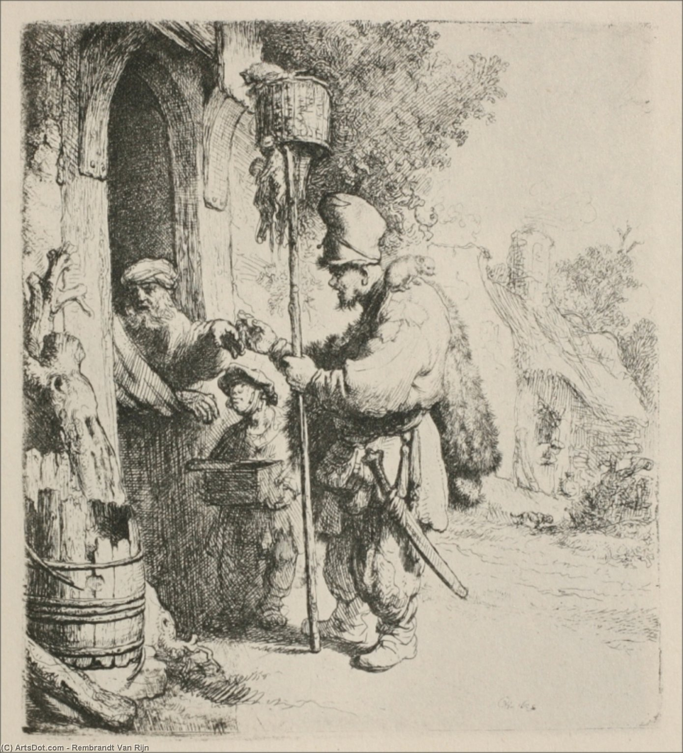 Wikioo.org - The Encyclopedia of Fine Arts - Painting, Artwork by Rembrandt Van Rijn - The Rat Killer