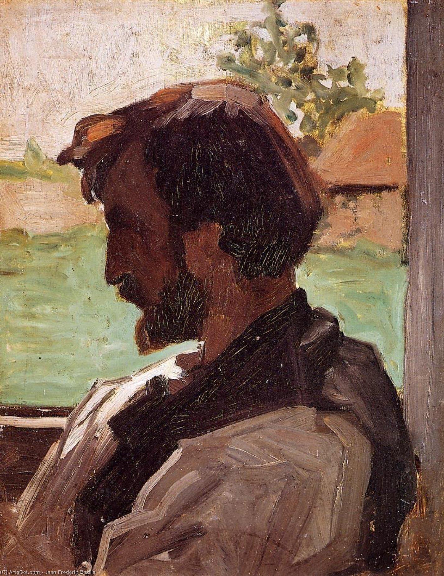 Wikioo.org - สารานุกรมวิจิตรศิลป์ - จิตรกรรม Jean Frederic Bazille - Self Portrait at Saint-Sauveur
