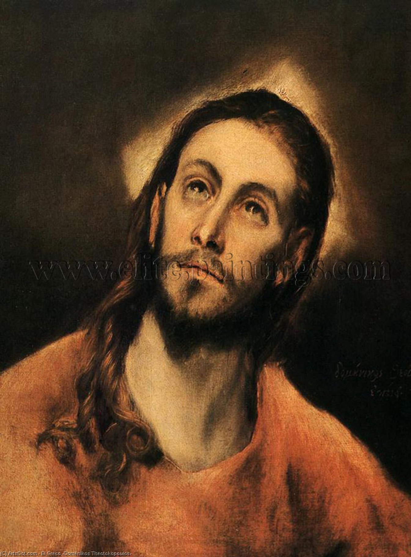 Wikioo.org - The Encyclopedia of Fine Arts - Painting, Artwork by El Greco (Doménikos Theotokopoulos) - Christ