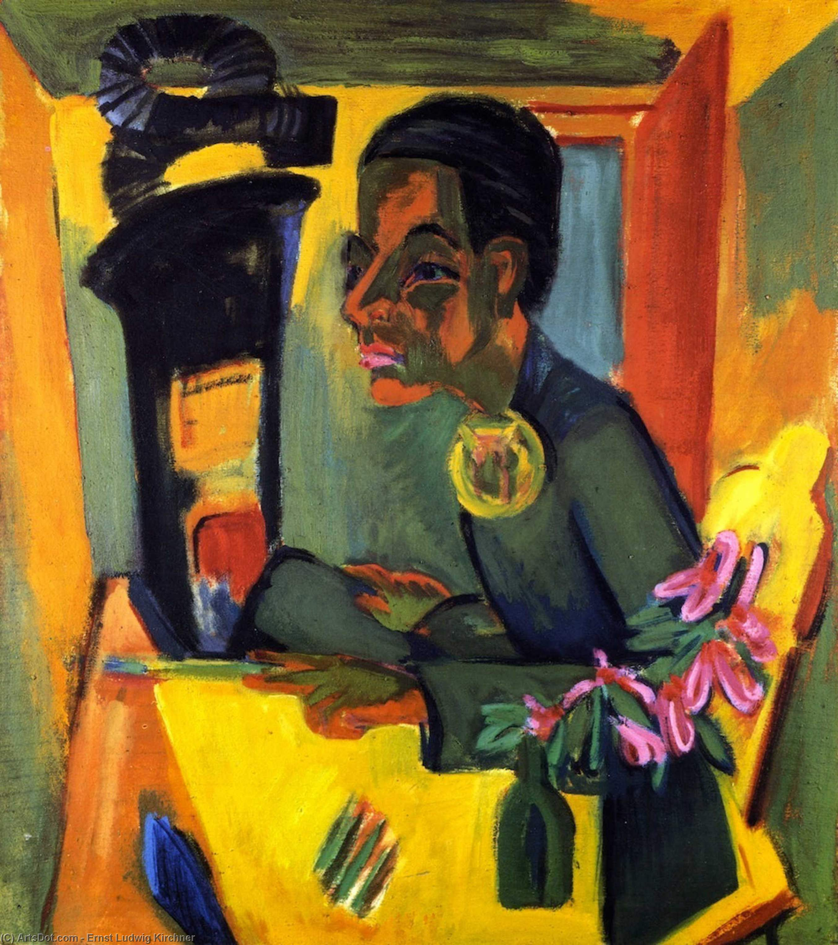 Wikioo.org - The Encyclopedia of Fine Arts - Painting, Artwork by Ernst Ludwig Kirchner - Der Maler, Selbstporträt