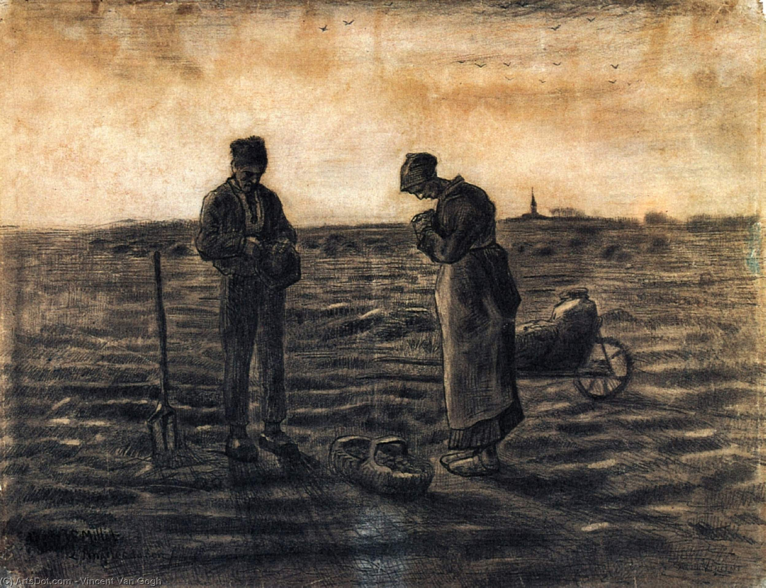 Wikioo.org - The Encyclopedia of Fine Arts - Painting, Artwork by Vincent Van Gogh - The Evening Prayer (after Millet)