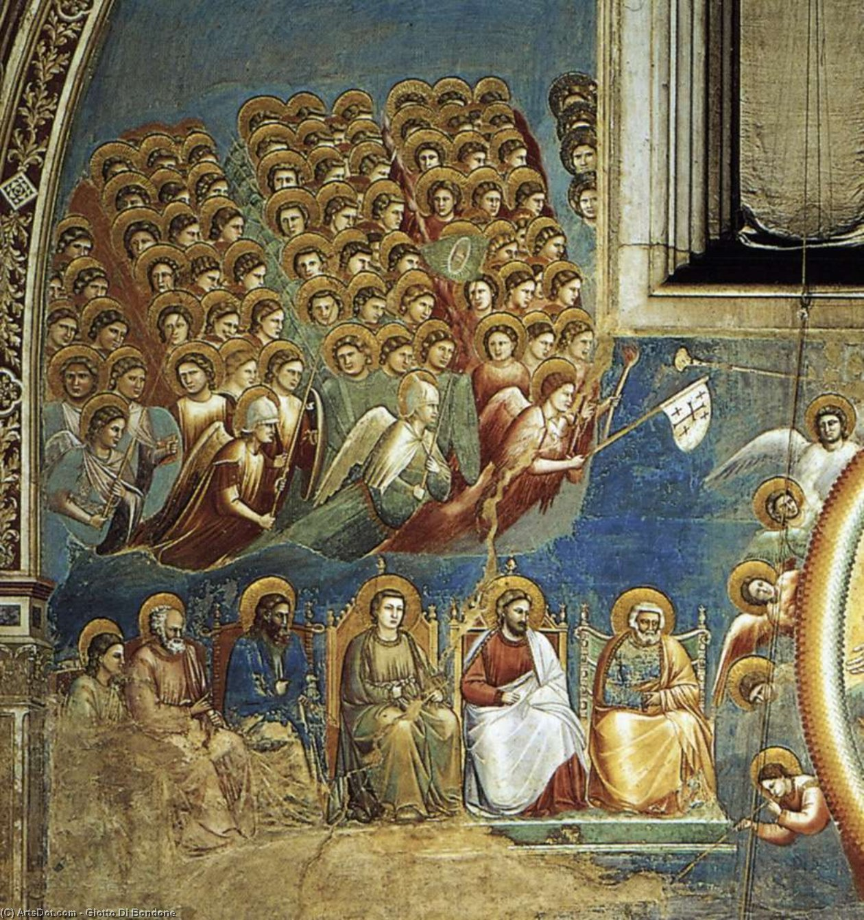 Wikioo.org - The Encyclopedia of Fine Arts - Painting, Artwork by Giotto Di Bondone - Last Judgment (detail 3) (Cappella Scrovegni (Arena Chapel), Padua)