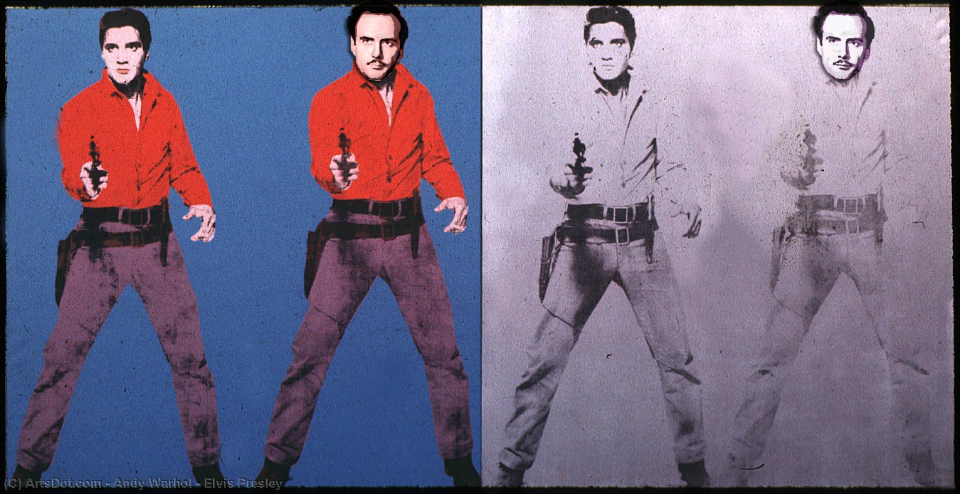 Wikioo.org - The Encyclopedia of Fine Arts - Painting, Artwork by Andy Warhol - Elvis Presley