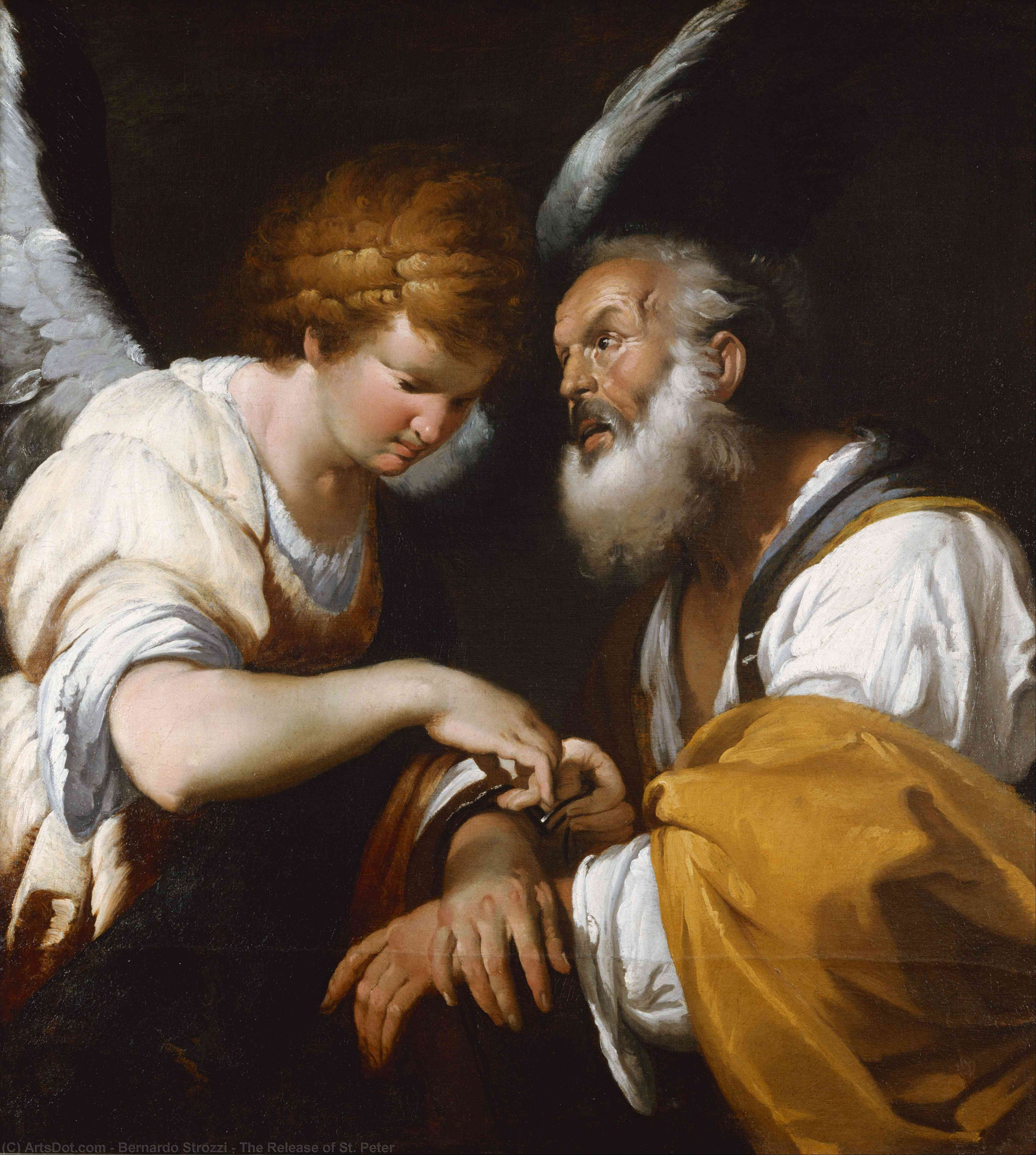 Wikioo.org - The Encyclopedia of Fine Arts - Painting, Artwork by Bernardo Strozzi - The Release of St. Peter