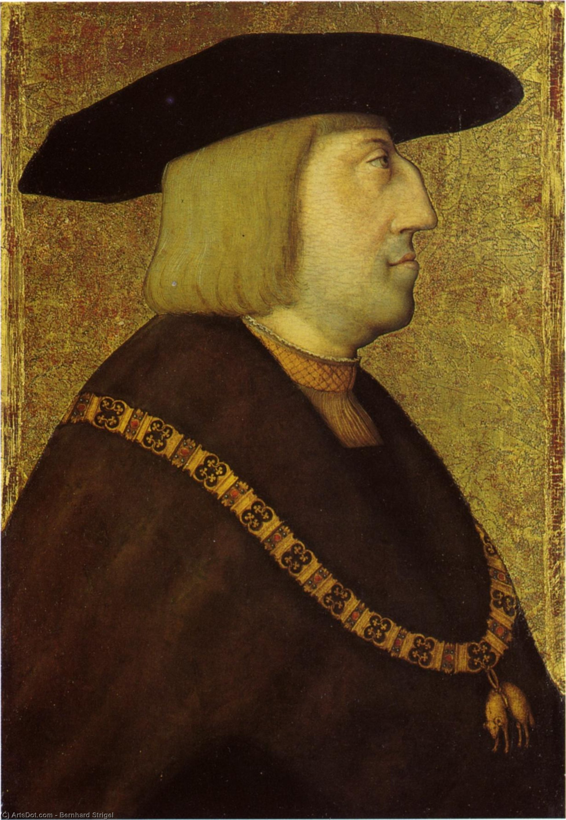 Wikioo.org - The Encyclopedia of Fine Arts - Painting, Artwork by Bernhard Strigel - Portrait of the Emperor Maximilian I