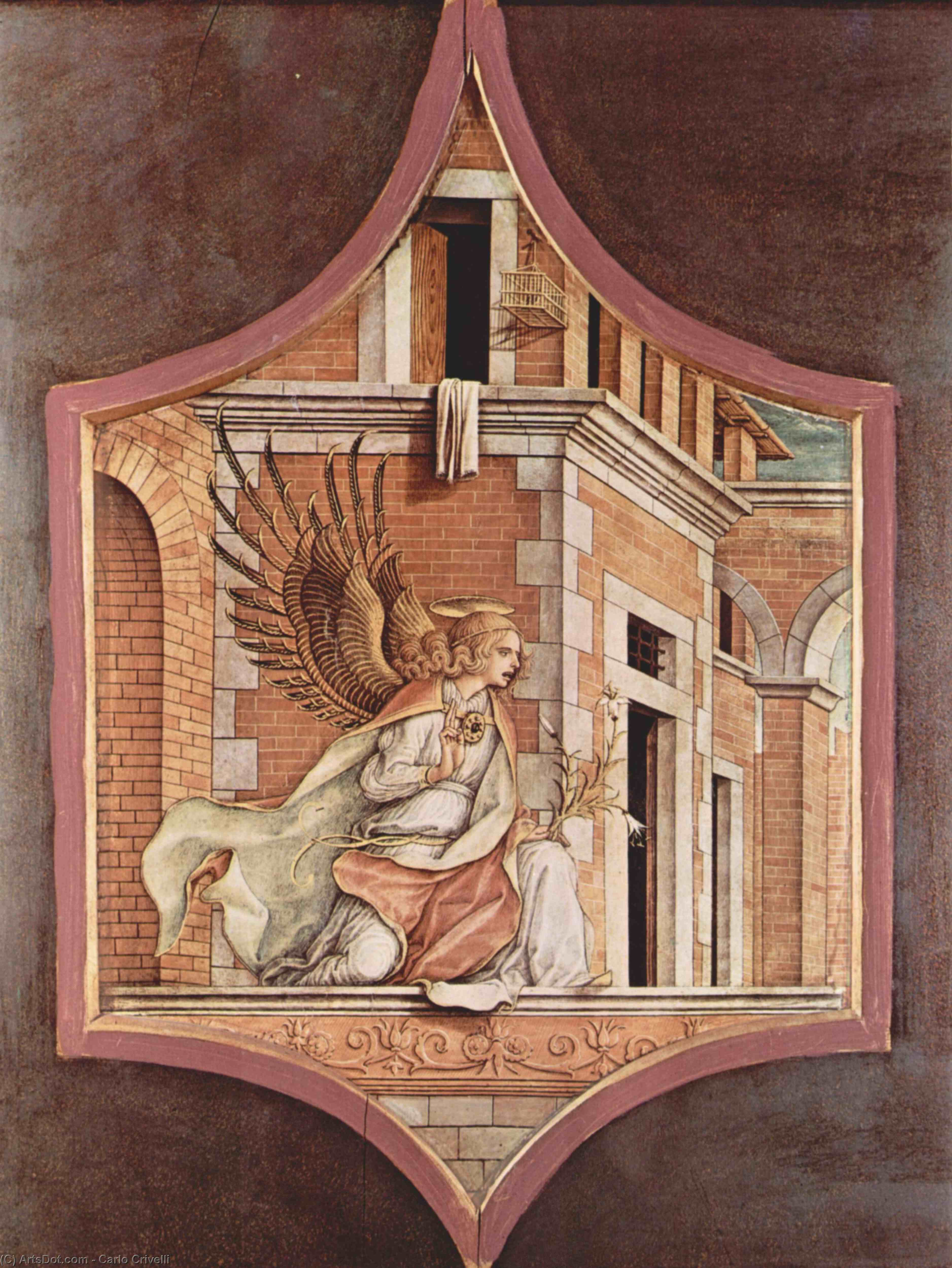 Wikioo.org - The Encyclopedia of Fine Arts - Painting, Artwork by Carlo Crivelli - Annunciation angel