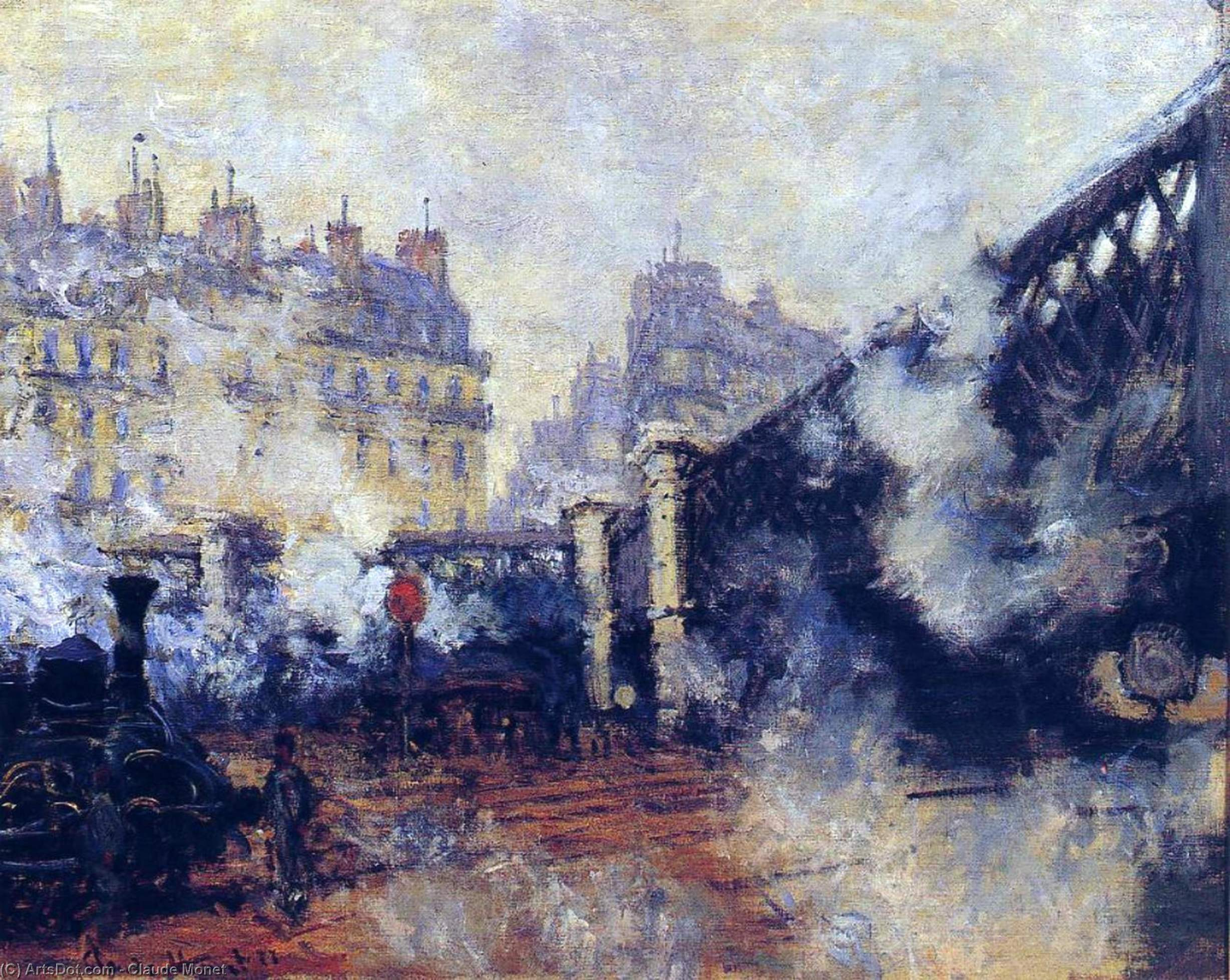 Wikioo.org - The Encyclopedia of Fine Arts - Painting, Artwork by Claude Monet - The Pont de l'Europe, Gare Saint-Lazare