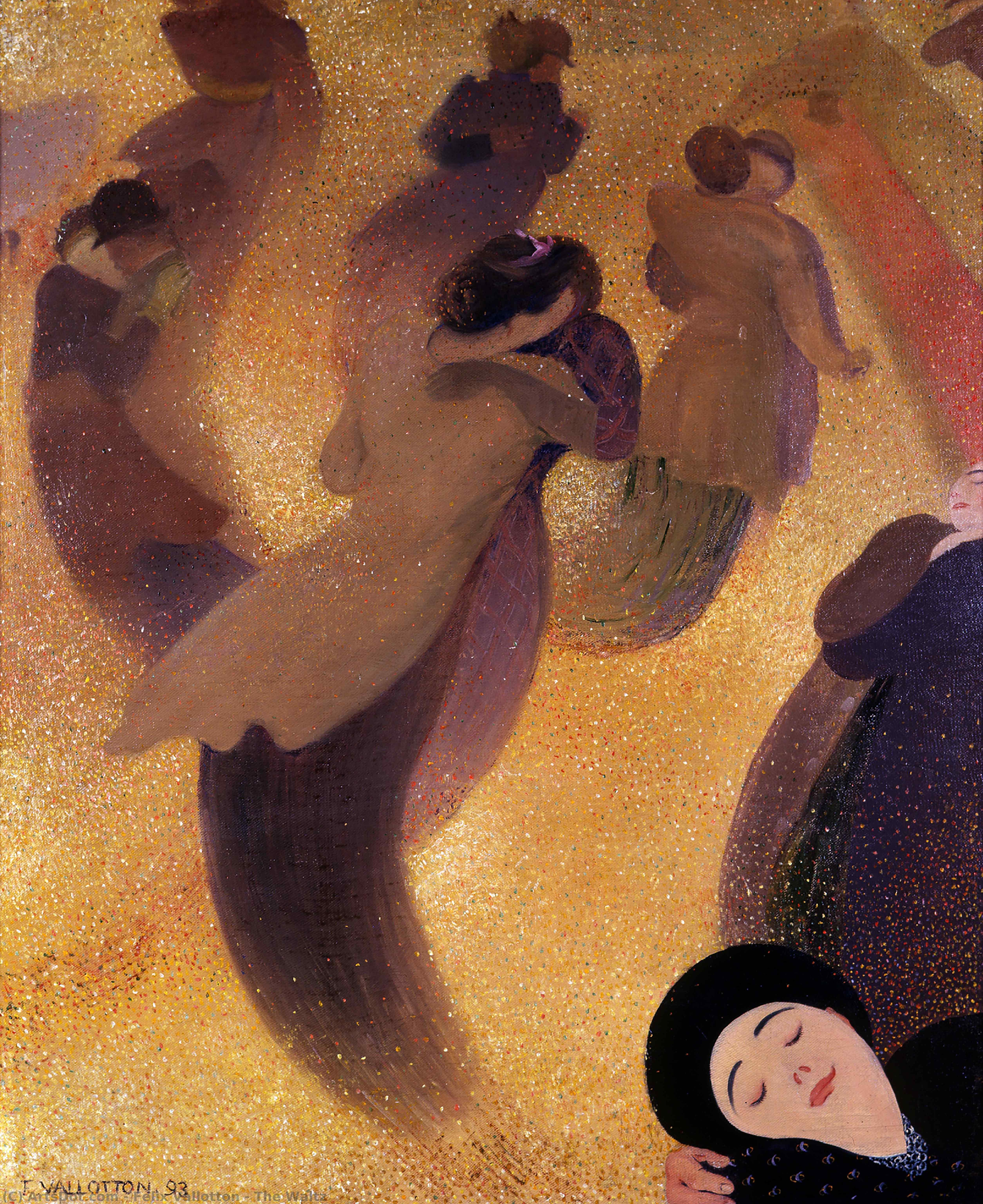 Wikoo.org - موسوعة الفنون الجميلة - اللوحة، العمل الفني Felix Vallotton - The Waltz
