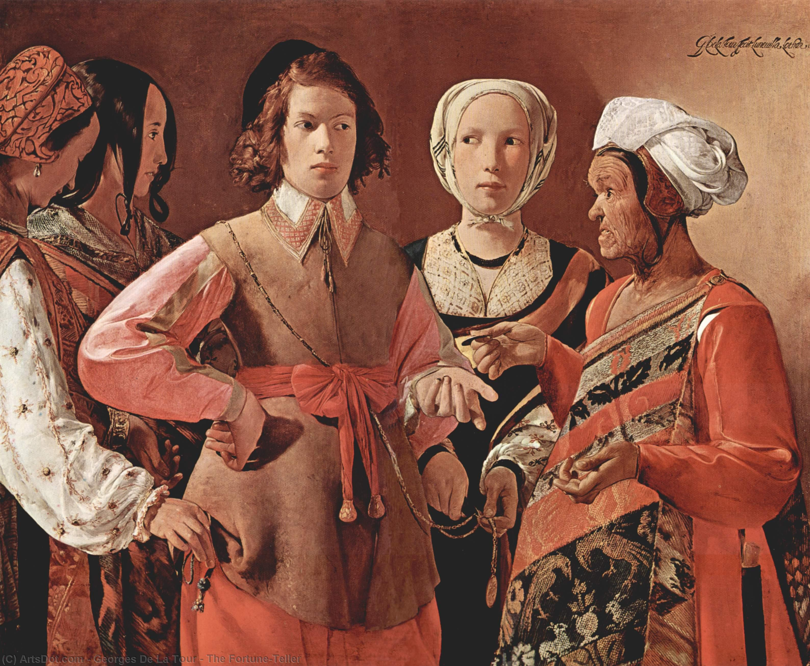 Wikioo.org - The Encyclopedia of Fine Arts - Painting, Artwork by Georges De La Tour - The Fortune-Teller