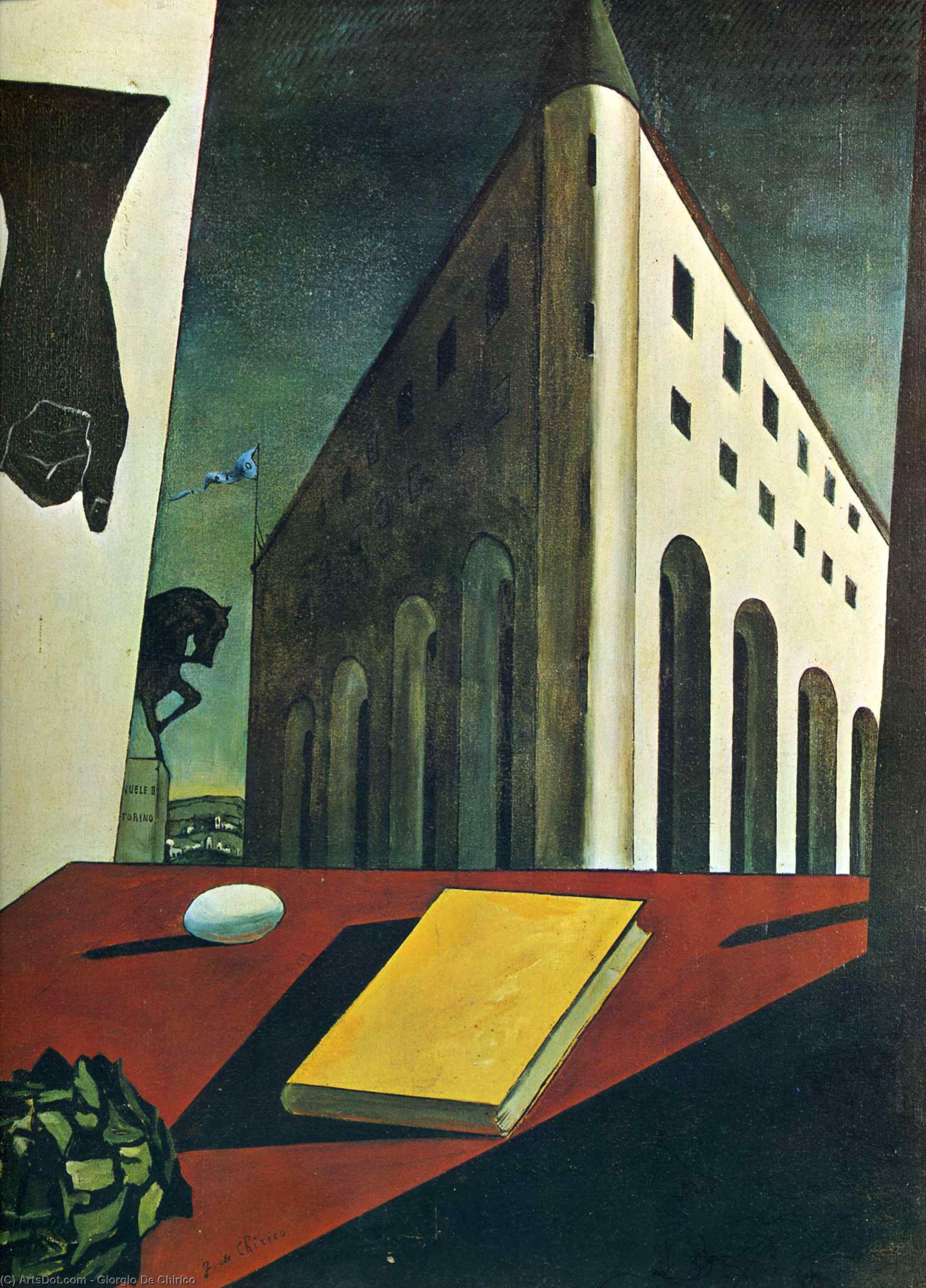 Wikioo.org – L'Enciclopedia delle Belle Arti - Pittura, Opere di Giorgio De Chirico - Torino Primavera