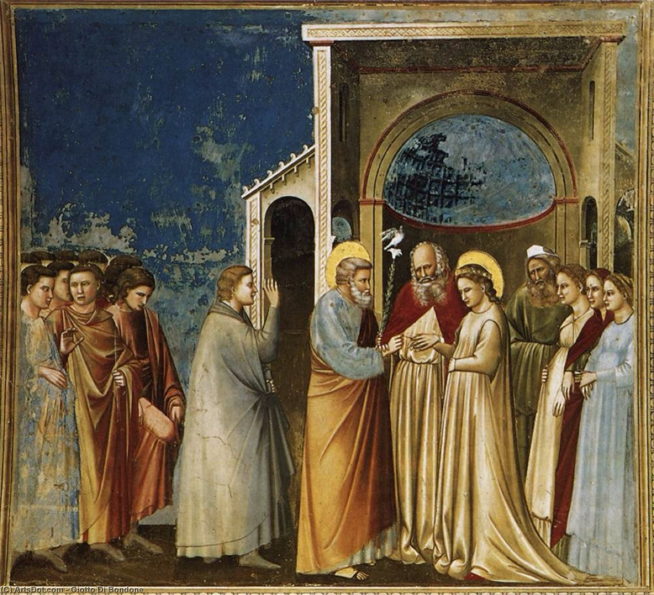 Wikioo.org - The Encyclopedia of Fine Arts - Painting, Artwork by Giotto Di Bondone - The Marriage of the Virgin