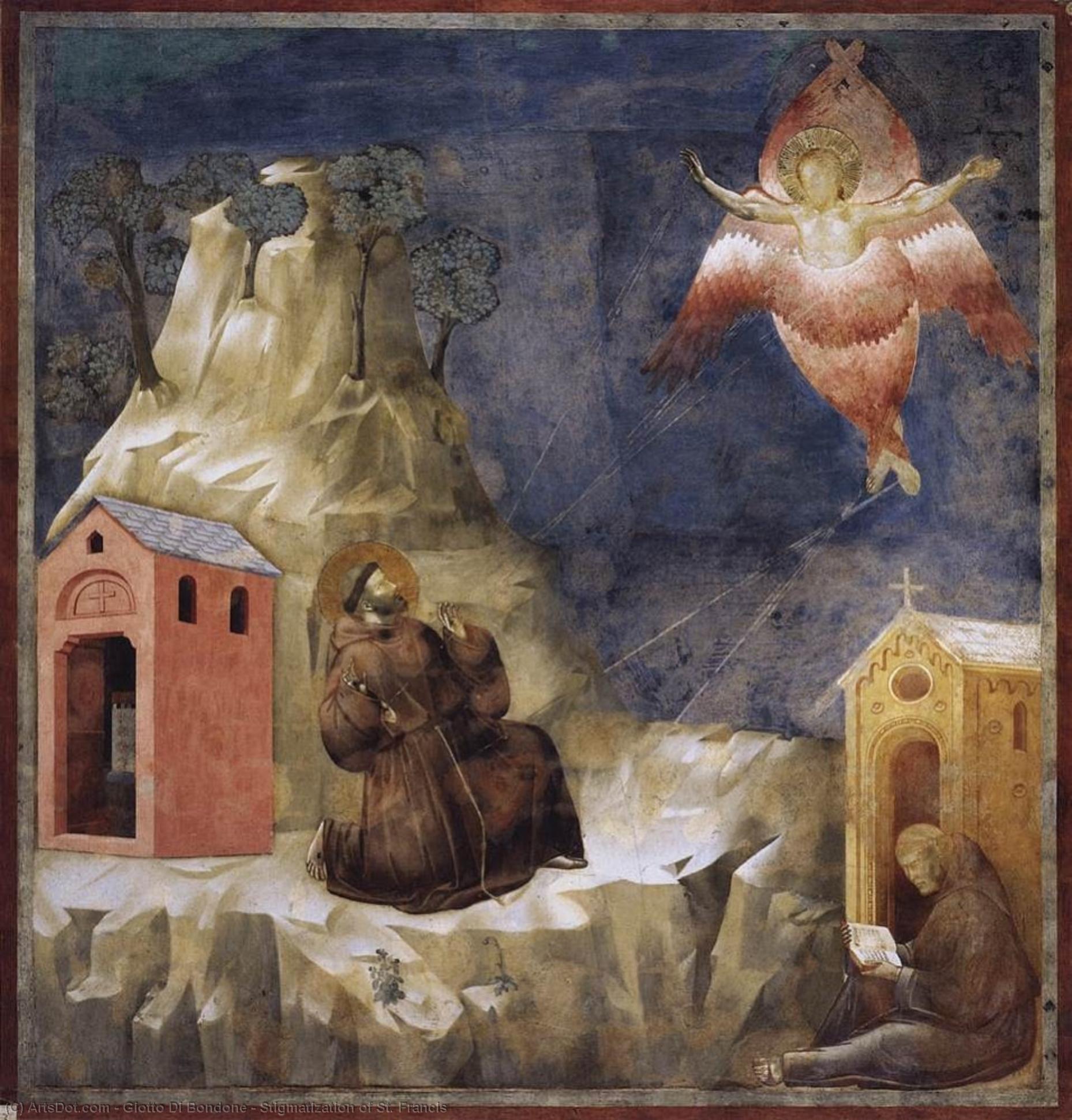 WikiOO.org - Enciklopedija dailės - Tapyba, meno kuriniai Giotto Di Bondone - Stigmatization of St. Francis