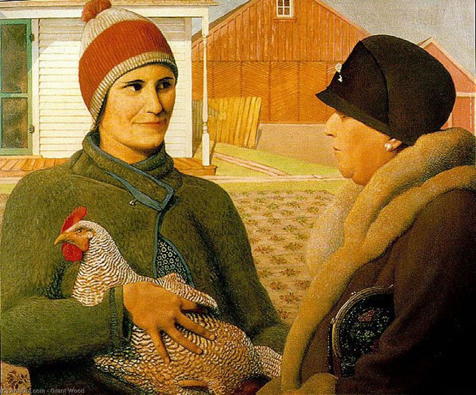 Wikioo.org - The Encyclopedia of Fine Arts - Painting, Artwork by Grant Wood - The Appraisal