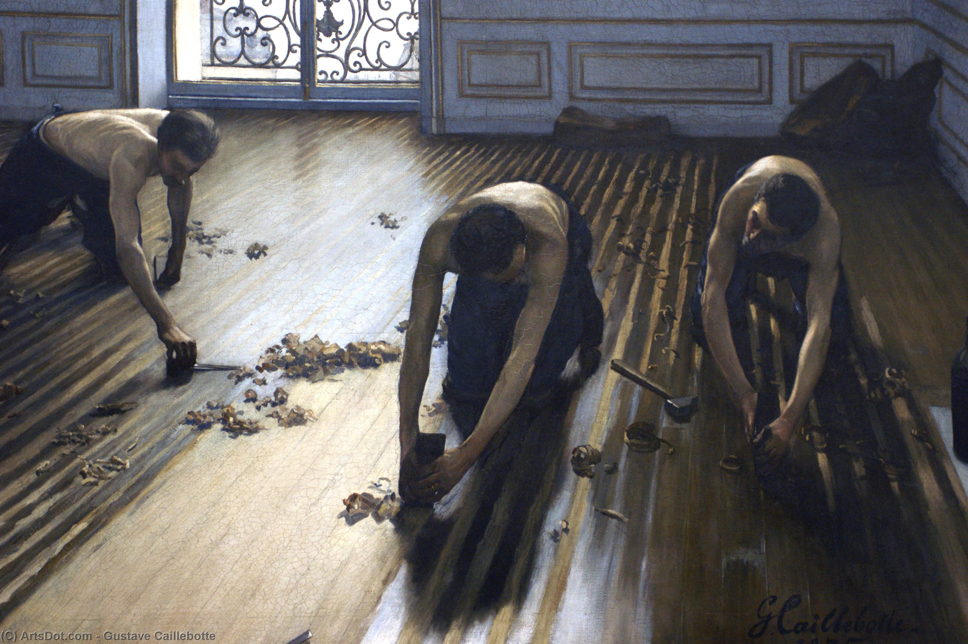 Wikioo.org - The Encyclopedia of Fine Arts - Painting, Artwork by Gustave Caillebotte - The Parquet Planers