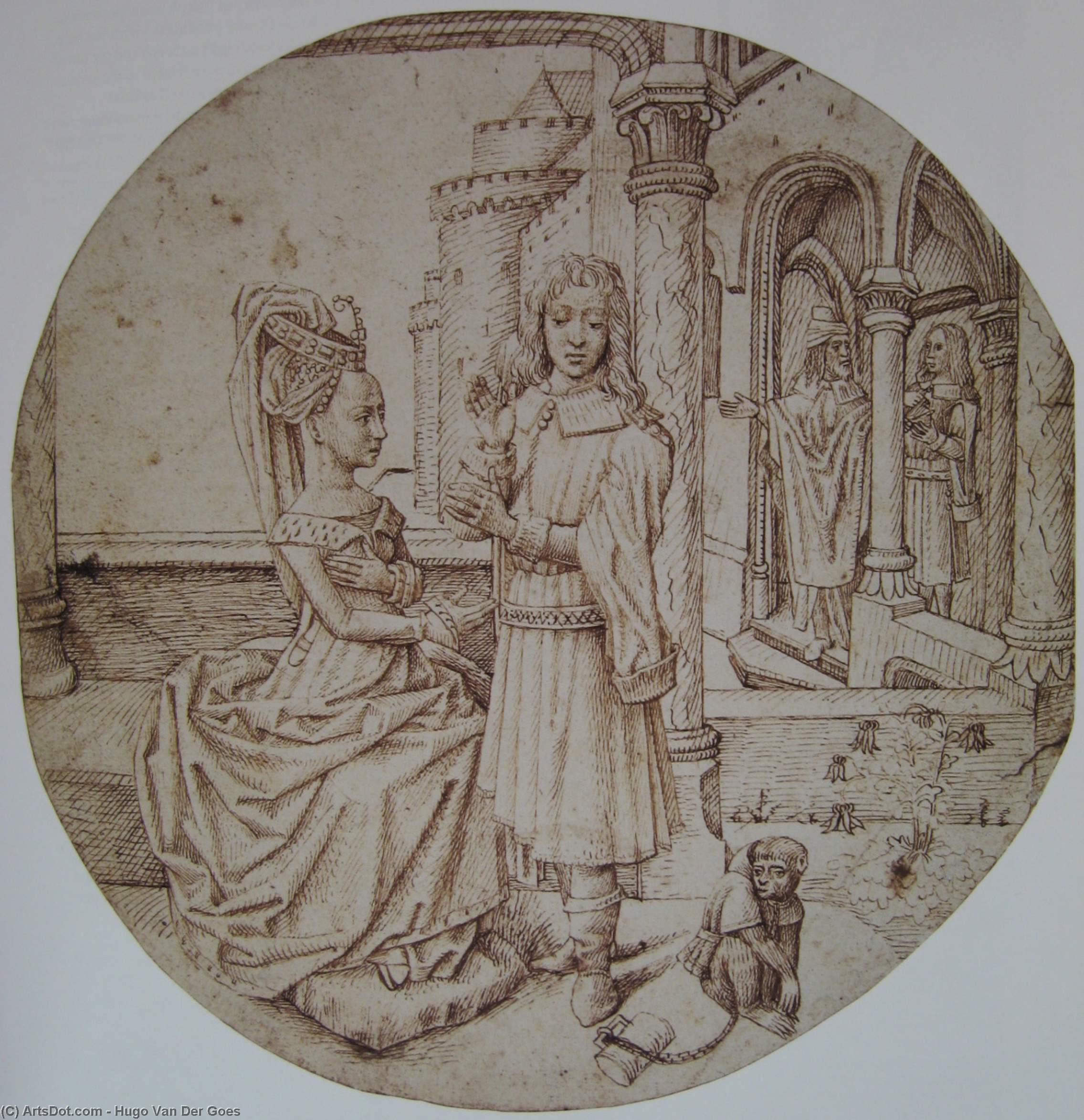 Wikioo.org - The Encyclopedia of Fine Arts - Painting, Artwork by Hugo Van Der Goes - Joseph and Asenath