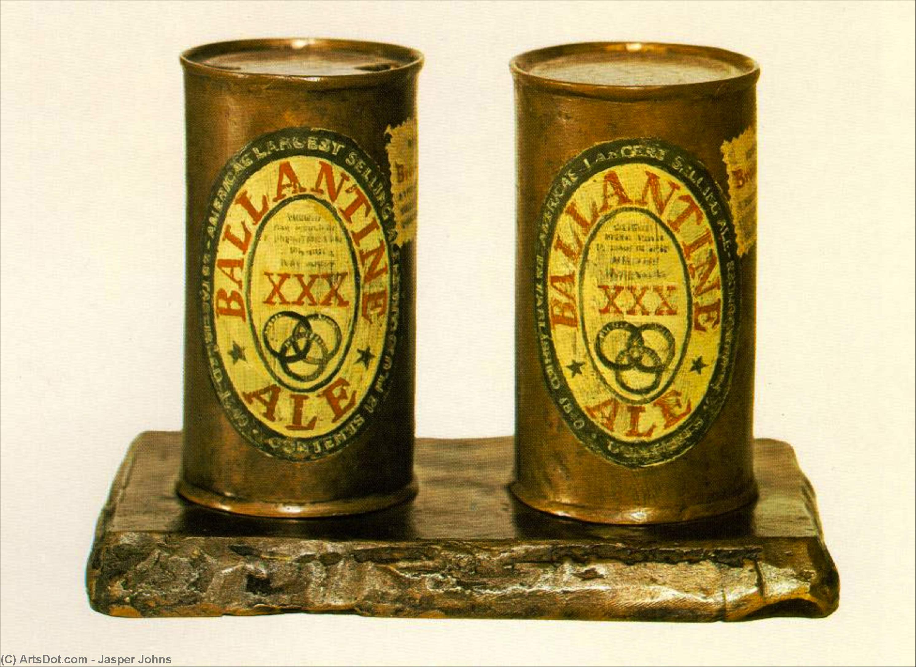 Wikioo.org - The Encyclopedia of Fine Arts - Painting, Artwork by Jasper Johns - Ale Cans