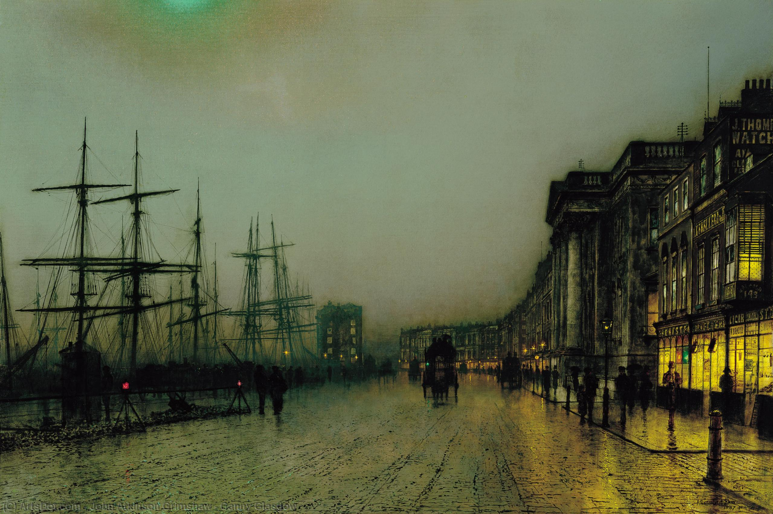 Wikioo.org - The Encyclopedia of Fine Arts - Painting, Artwork by John Atkinson Grimshaw - Canny Glasgow