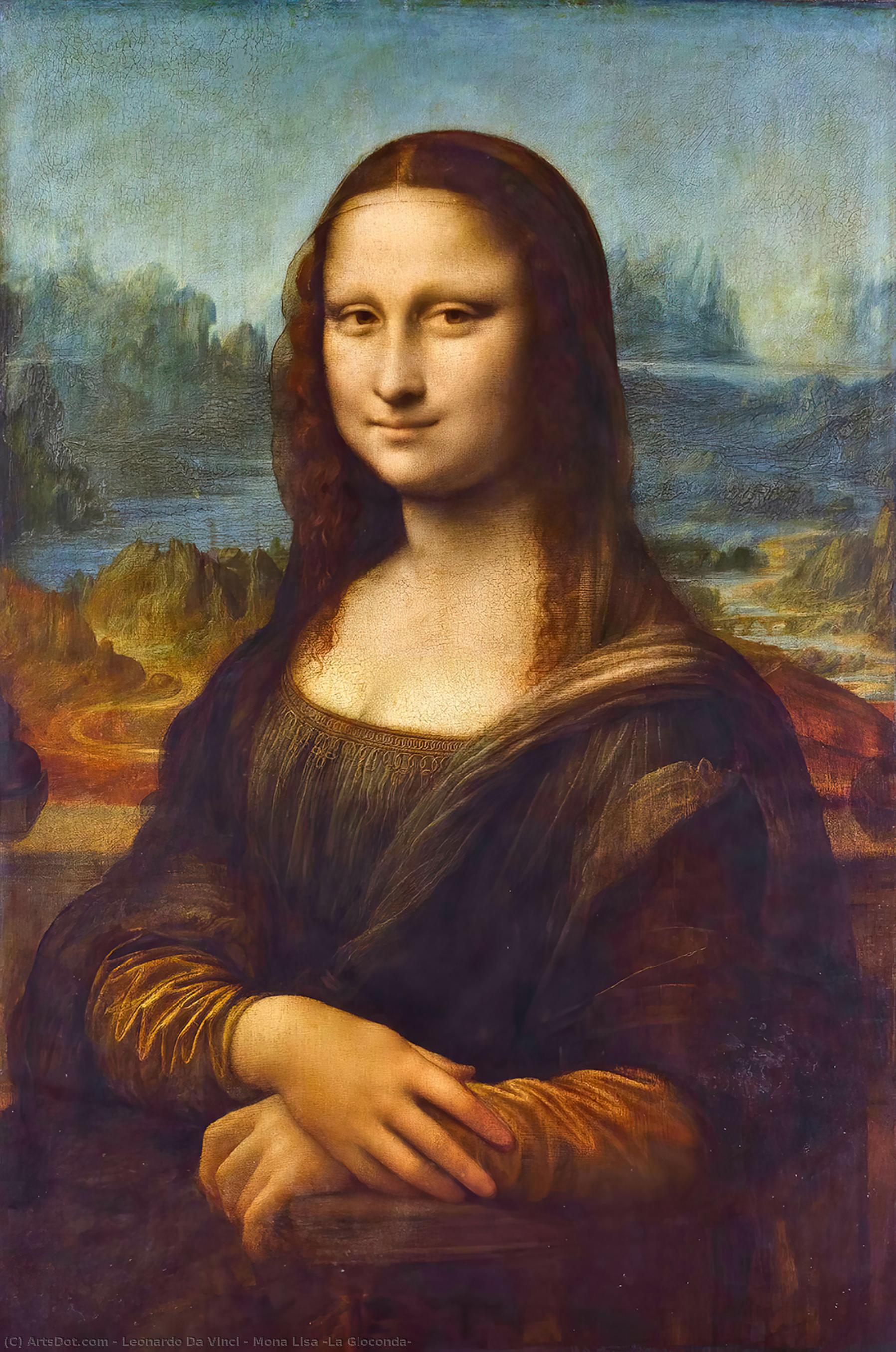 WikiOO.org - Güzel Sanatlar Ansiklopedisi - Resim, Resimler Leonardo Da Vinci - Mona Lisa (La Gioconda)
