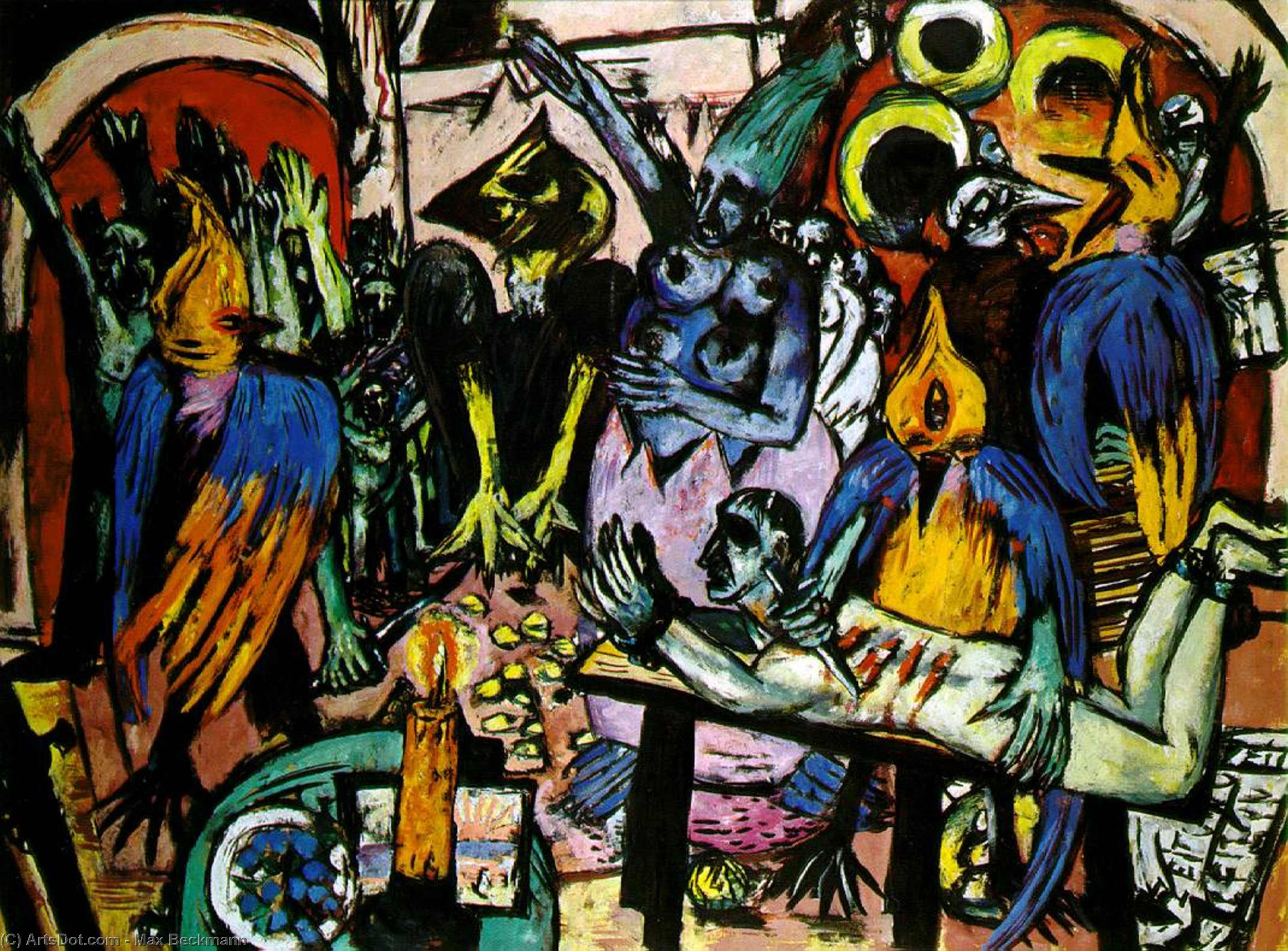 Wikioo.org - The Encyclopedia of Fine Arts - Painting, Artwork by Max Beckmann - Bird's hell
