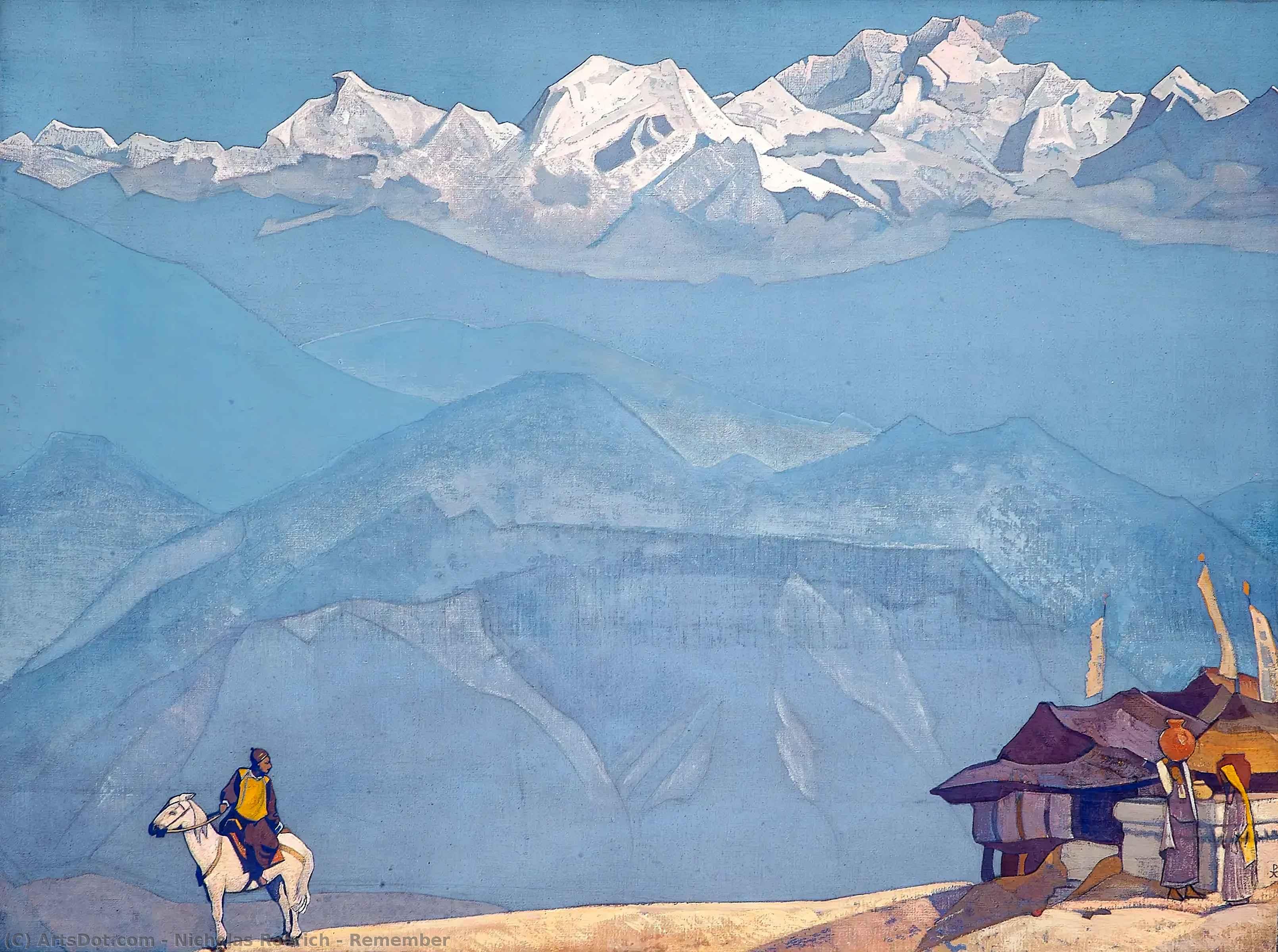 Wikoo.org - موسوعة الفنون الجميلة - اللوحة، العمل الفني Nicholas Roerich - Remember