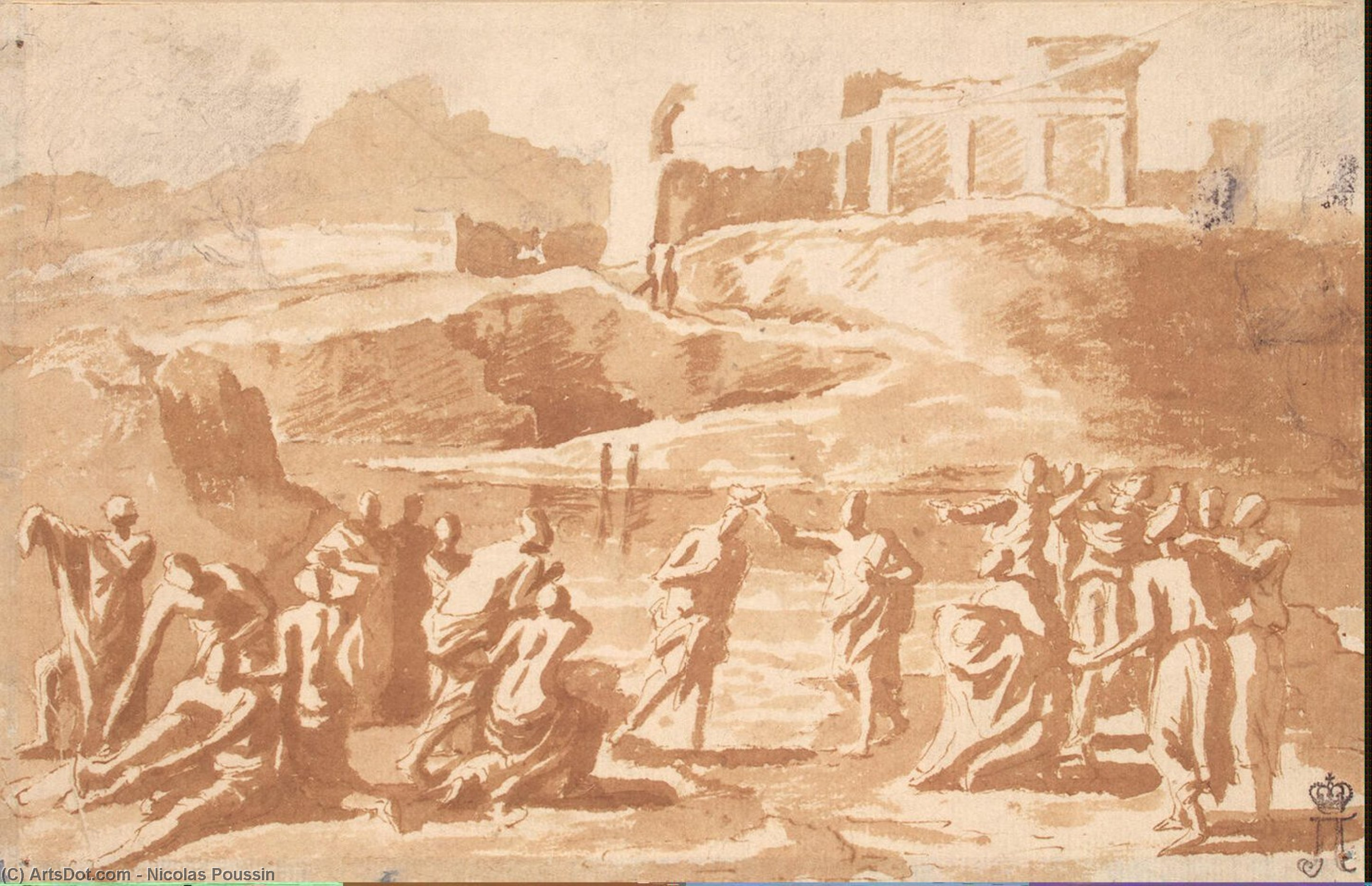 Wikioo.org - The Encyclopedia of Fine Arts - Painting, Artwork by Nicolas Poussin - Baptism