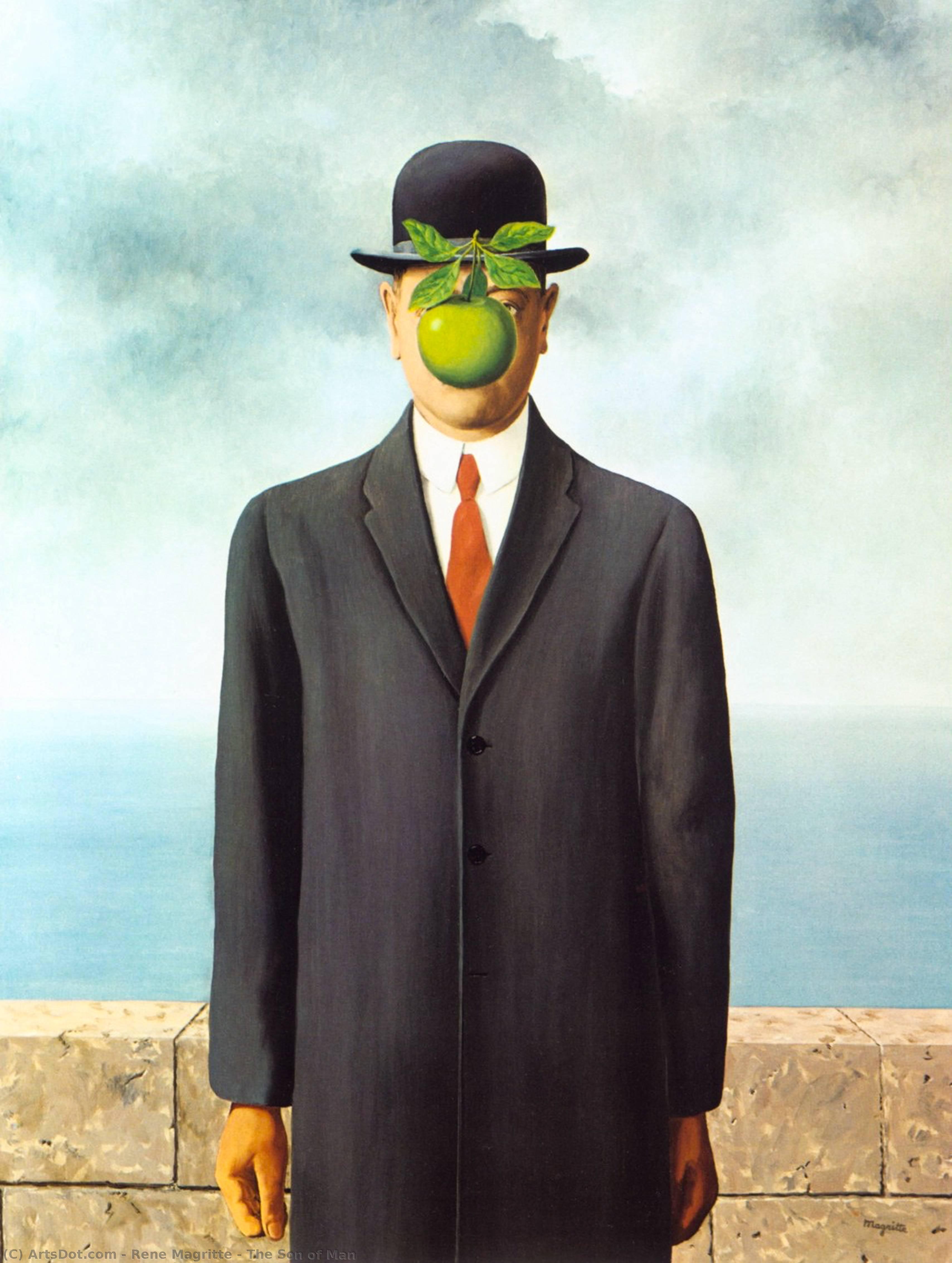 WikiOO.org - Enciklopedija dailės - Tapyba, meno kuriniai Rene Magritte - The Son of Man