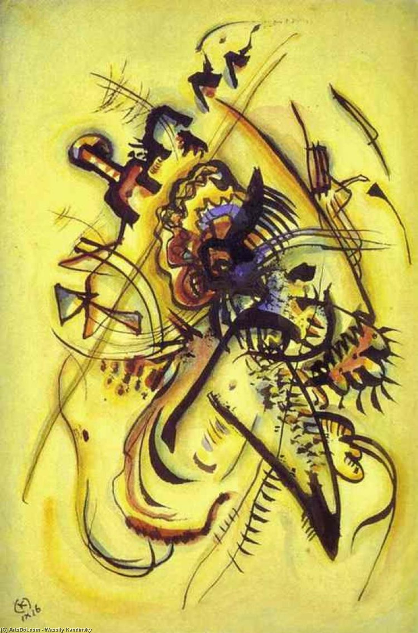Wikioo.org - The Encyclopedia of Fine Arts - Painting, Artwork by Wassily Kandinsky - To the Unknown Voice