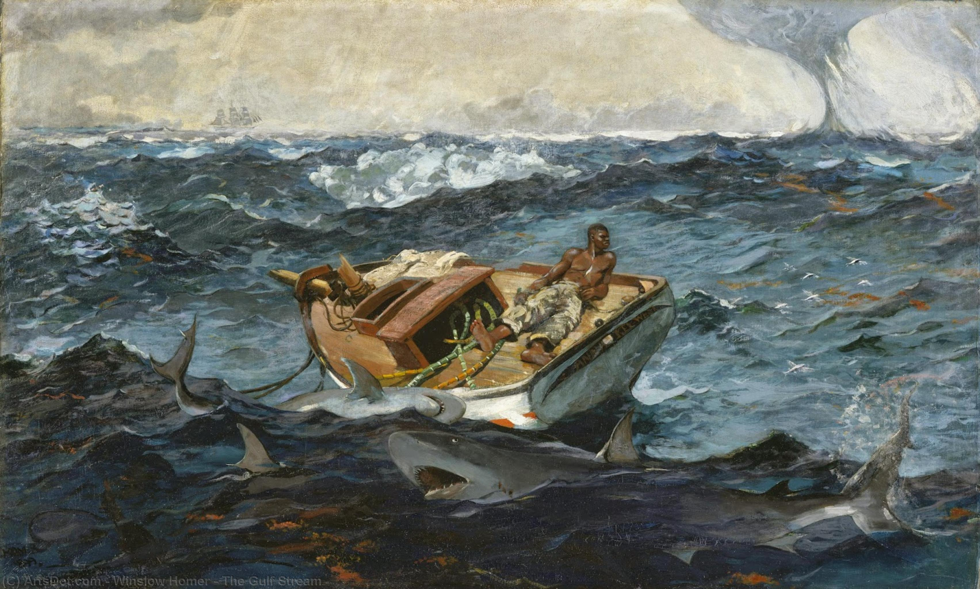 Wikioo.org - The Encyclopedia of Fine Arts - Painting, Artwork by Winslow Homer - The Gulf Stream