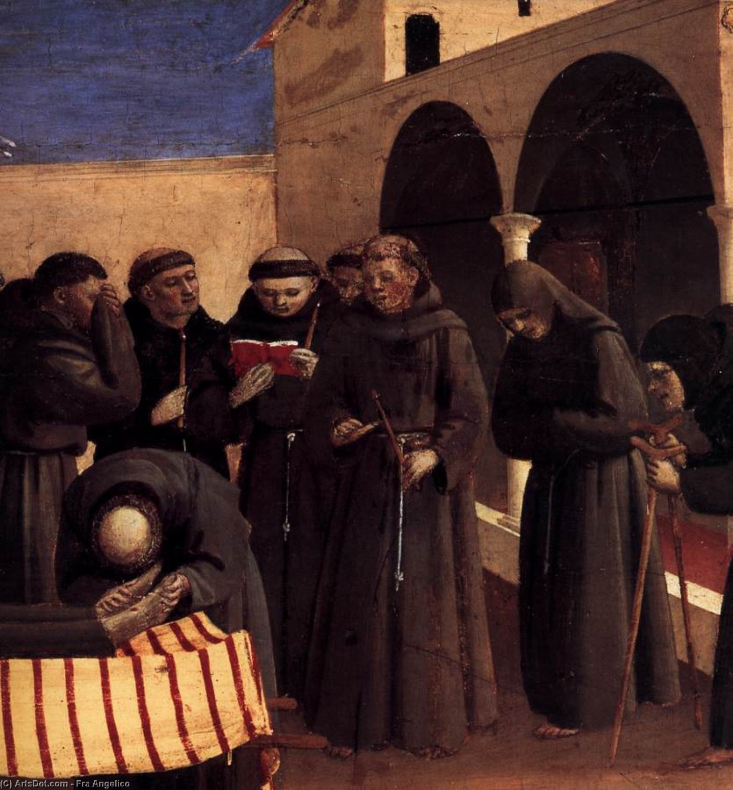 Wikioo.org - The Encyclopedia of Fine Arts - Painting, Artwork by Fra Angelico - The Lamentation over St Francis (detail)