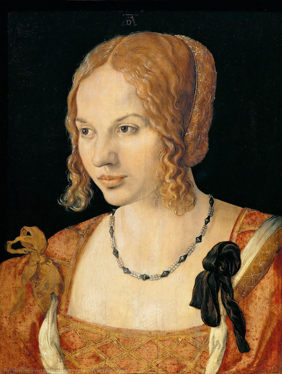 Wikioo.org - The Encyclopedia of Fine Arts - Painting, Artwork by Albrecht Durer - Portrait of a Young Venetian Woman