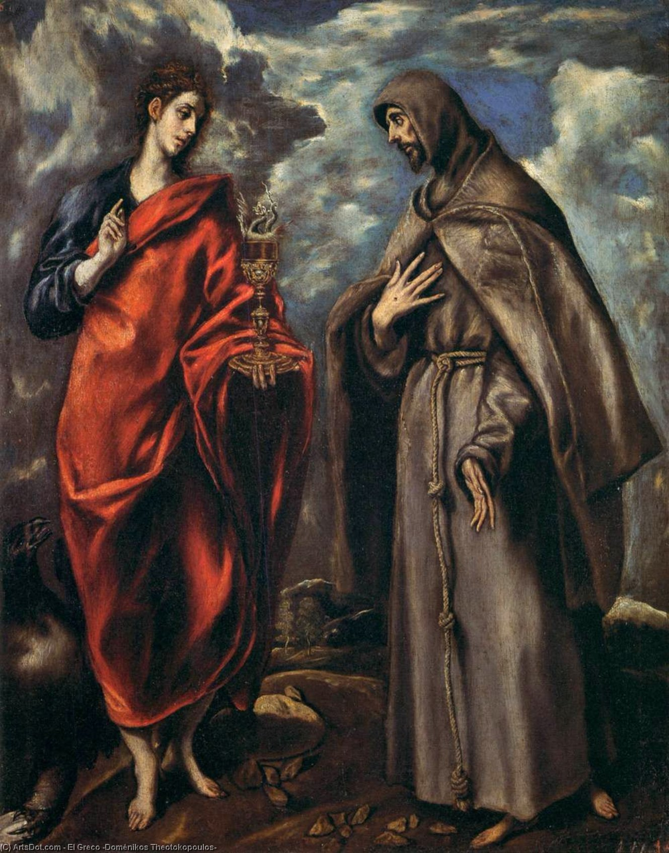 Wikioo.org - The Encyclopedia of Fine Arts - Painting, Artwork by El Greco (Doménikos Theotokopoulos) - Sts John and Francis